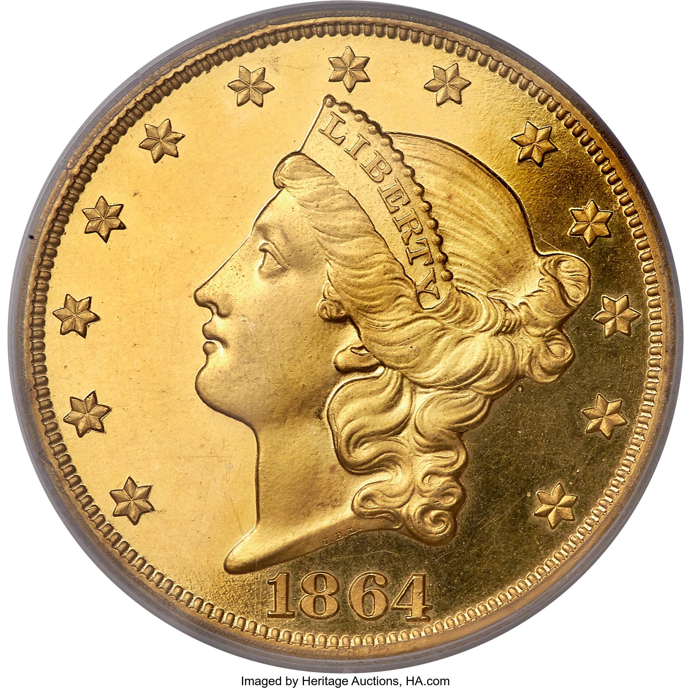 sample image for 1864 $20  PR CAM