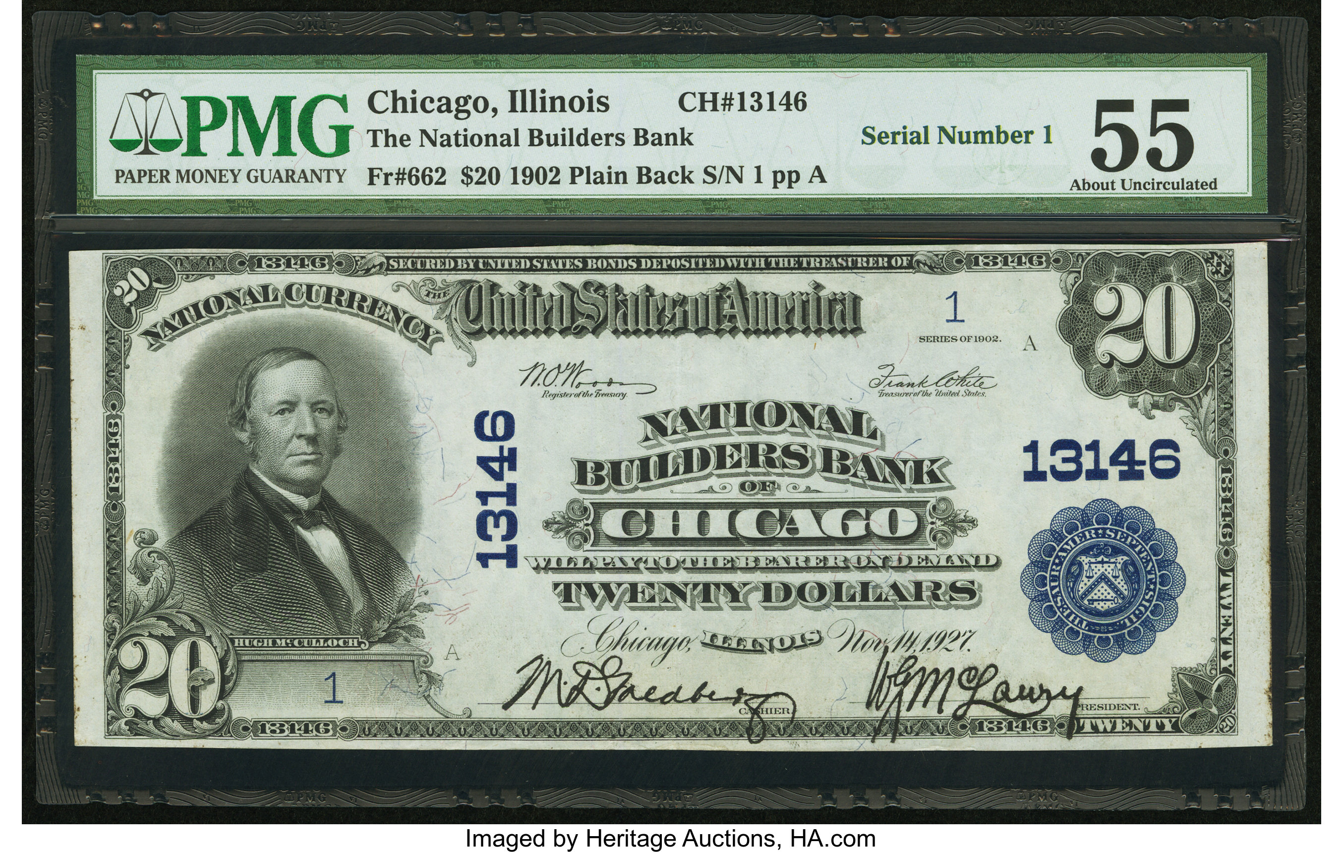 sample image for 1902 3rd Charter Period $20  Plain Back 3rd Issue (Fr.# 662)