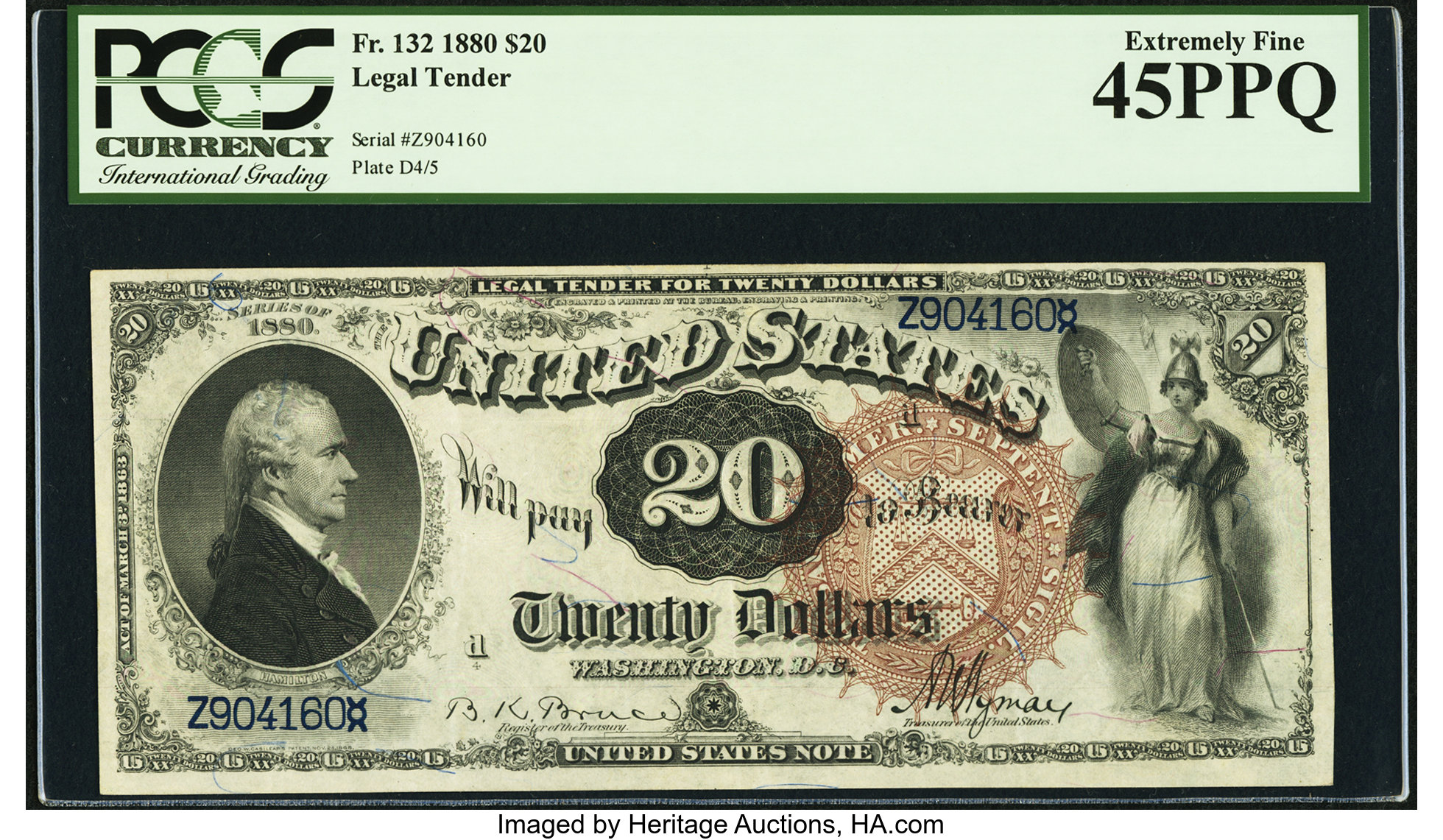 sample image for 1880 $20  (Fr.# 132)