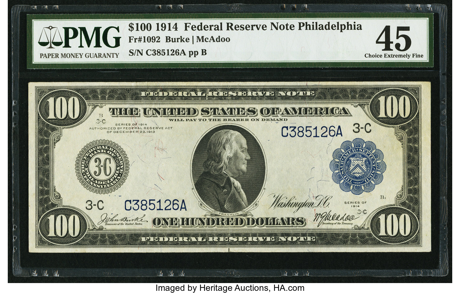 sample image for Fr.1092 $100 Philly