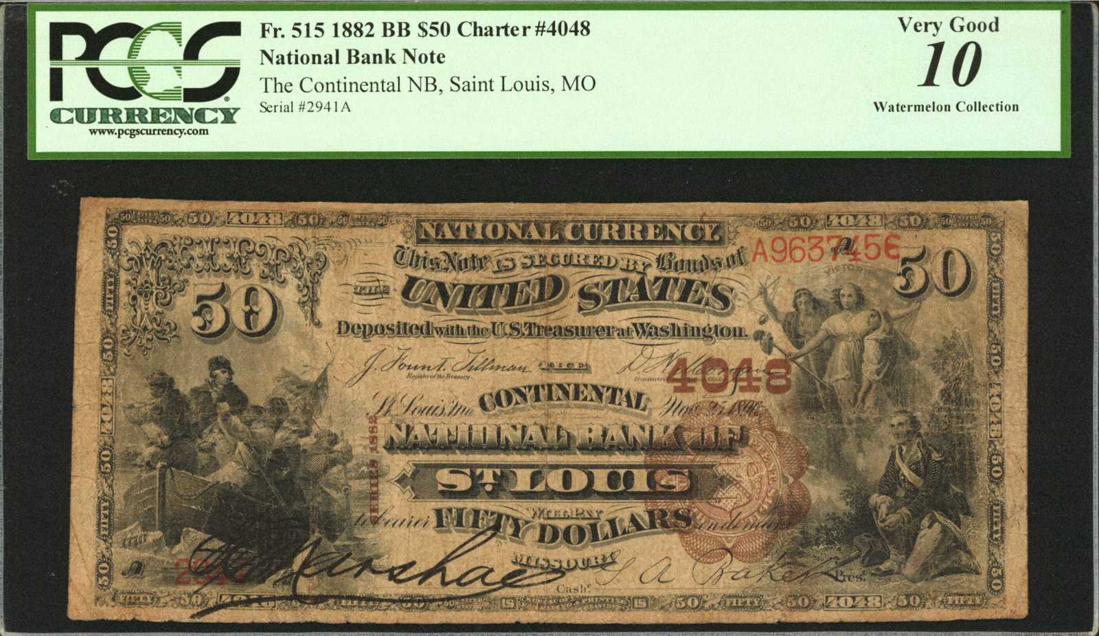 sample image for 1882 2nd Charter Period $50  Brown Back 1st Issue (Fr.# 515)