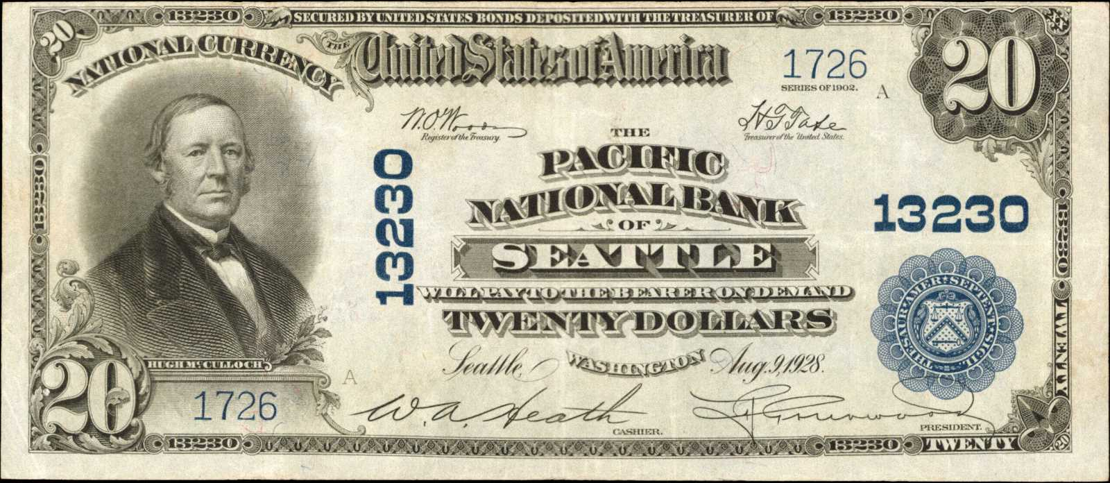 sample image for 1902 3rd Charter Period $20  Plain Back 3rd Issue (Fr.# 663)