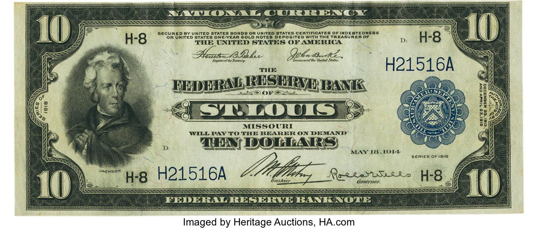 sample image for 1918 $10  St. Louis (Fr.# 815)