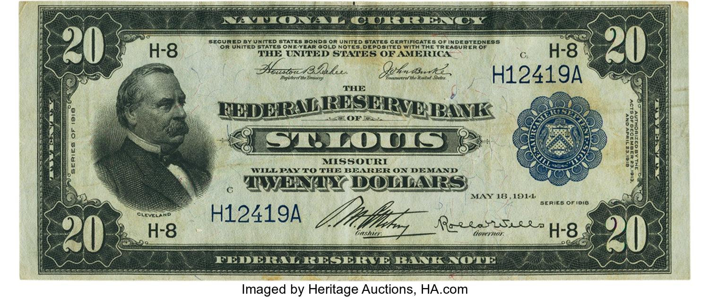 sample image for 1918 $20  St. Louis (Fr.# 825)
