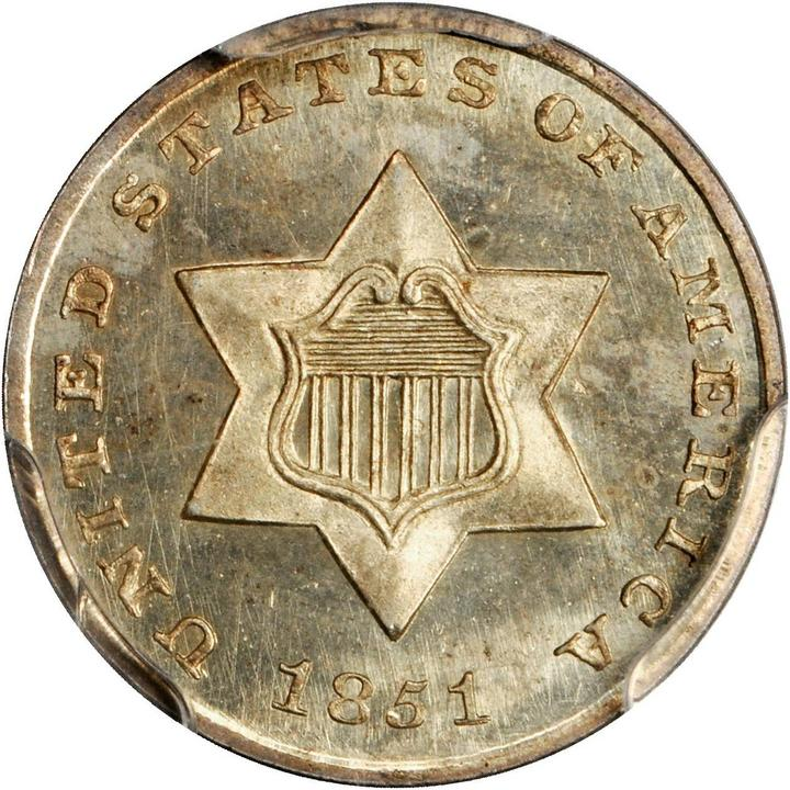 sample image for Three-Cent Silver, Ty. 1 [Type]
