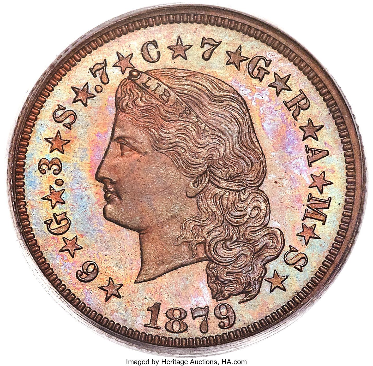 sample image for 1879 J-1636 P$4 PR BN