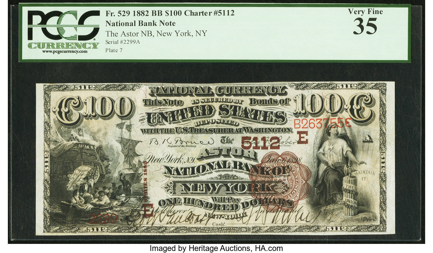 sample image for 1882 2nd Charter Period $100  Brown Back 1st Issue (Fr.# 529)