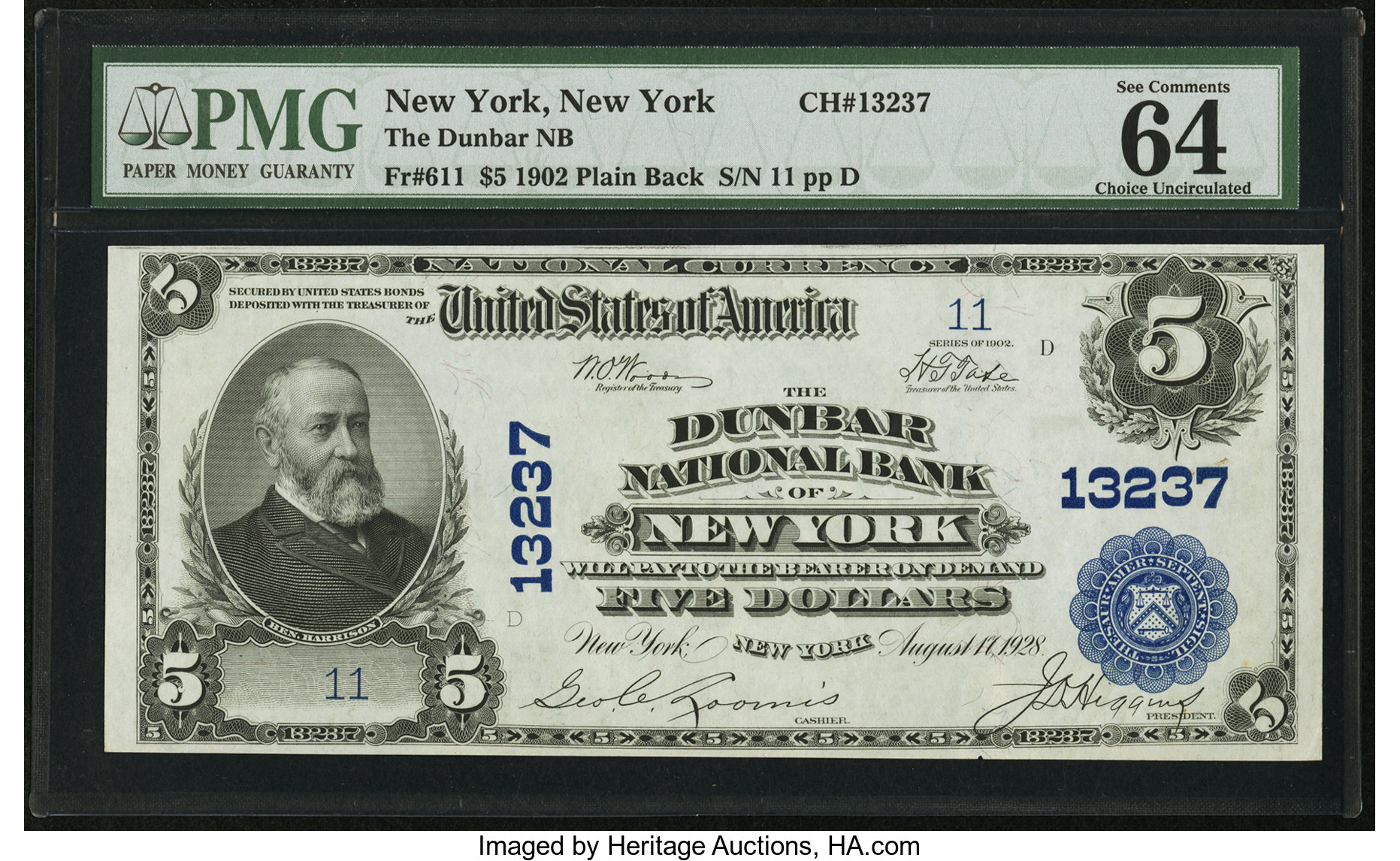 sample image for 1902 3rd Charter Period $5  Plain Back 3rd Issue (Fr.# 611)
