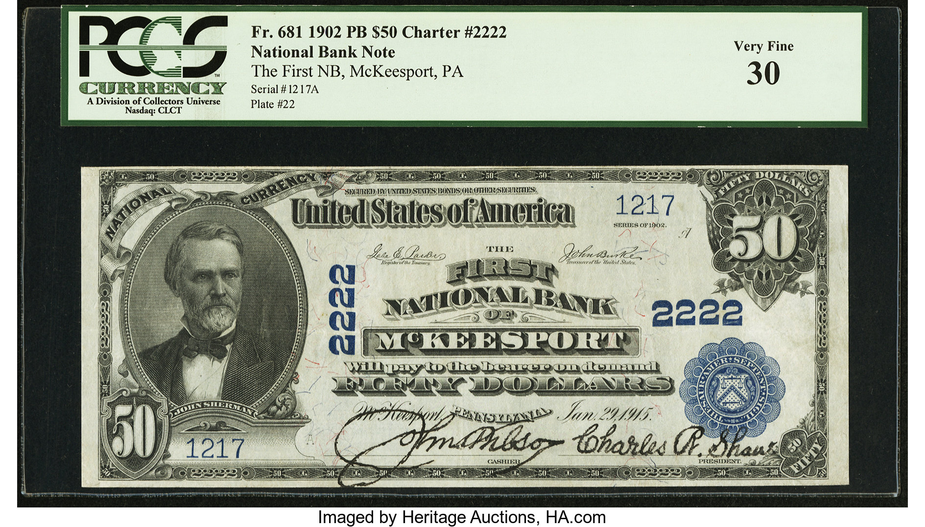 sample image for 1902 3rd Charter Period $50  Plain Back 3rd Issue (Fr.# 681)