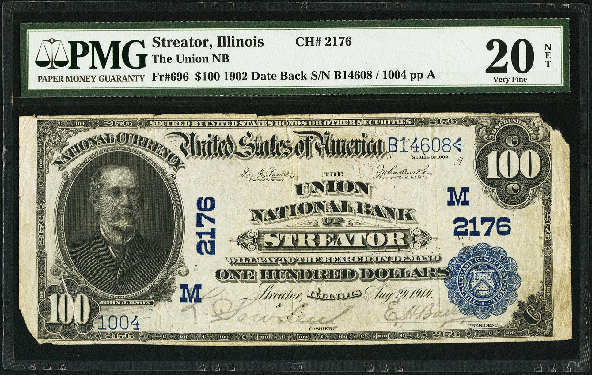 sample image for 1902 3rd Charter Period $100  Date Back 2nd Issue (Fr.# 696)