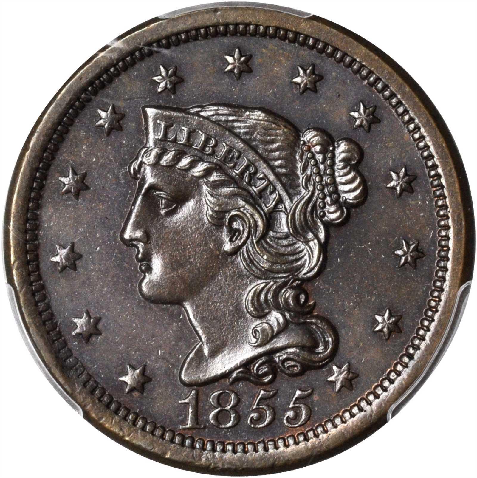 sample image for 1855 1c MS BN Slanted 55