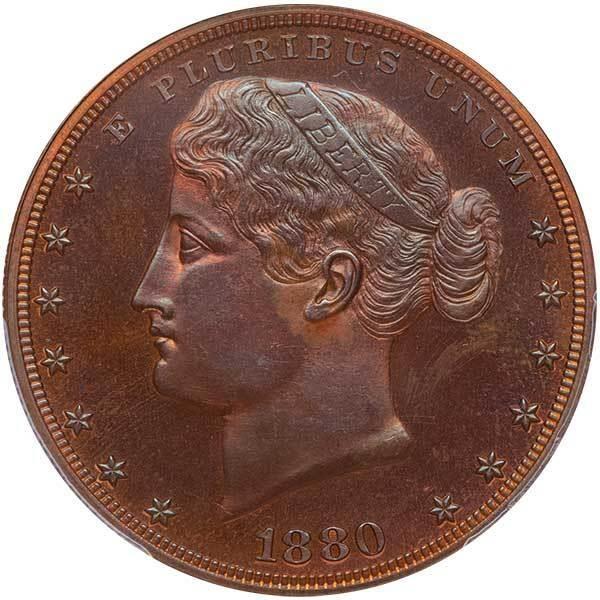 sample image for 1880 J-1649 P$1 PR BN