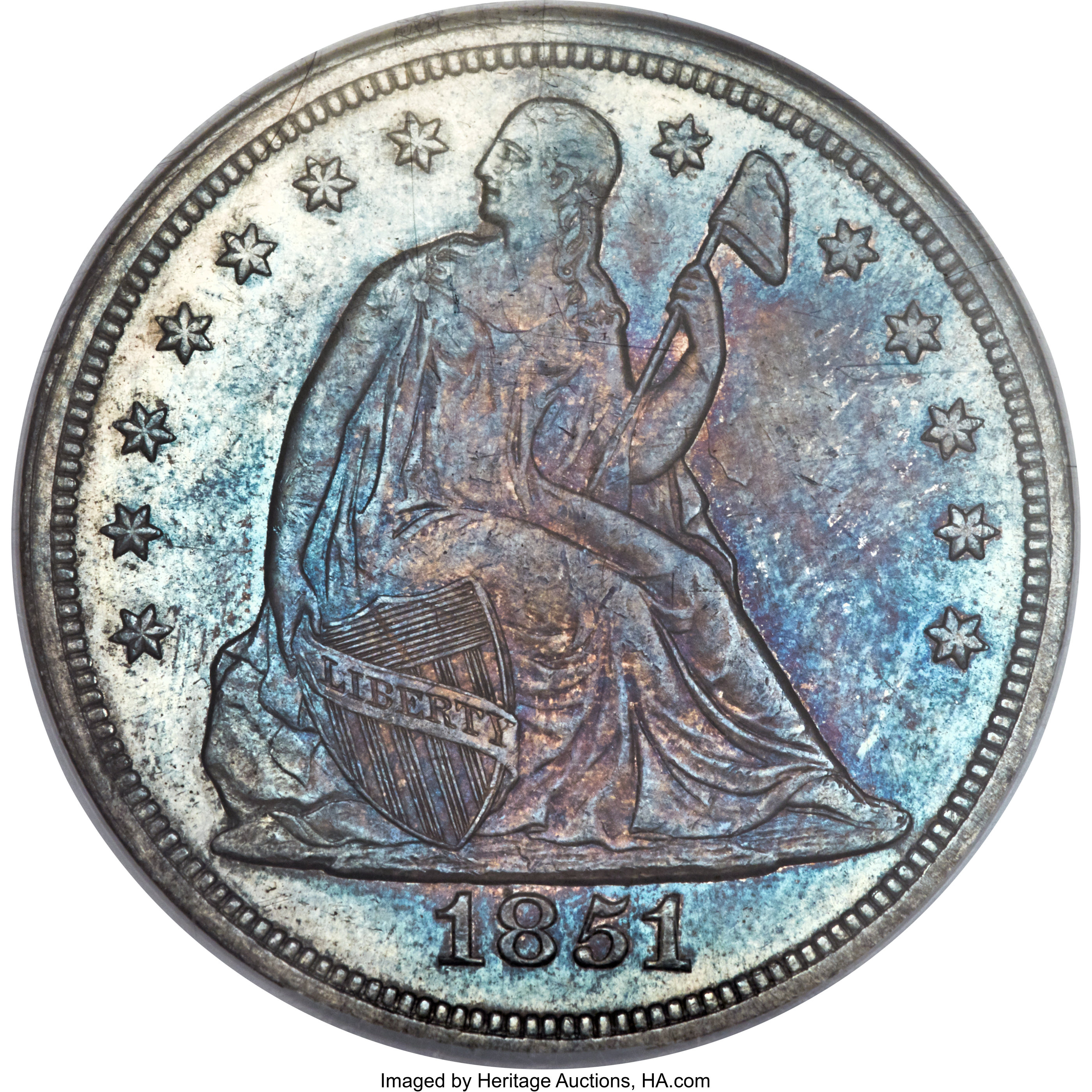 sample image for 1851 $1  MS
