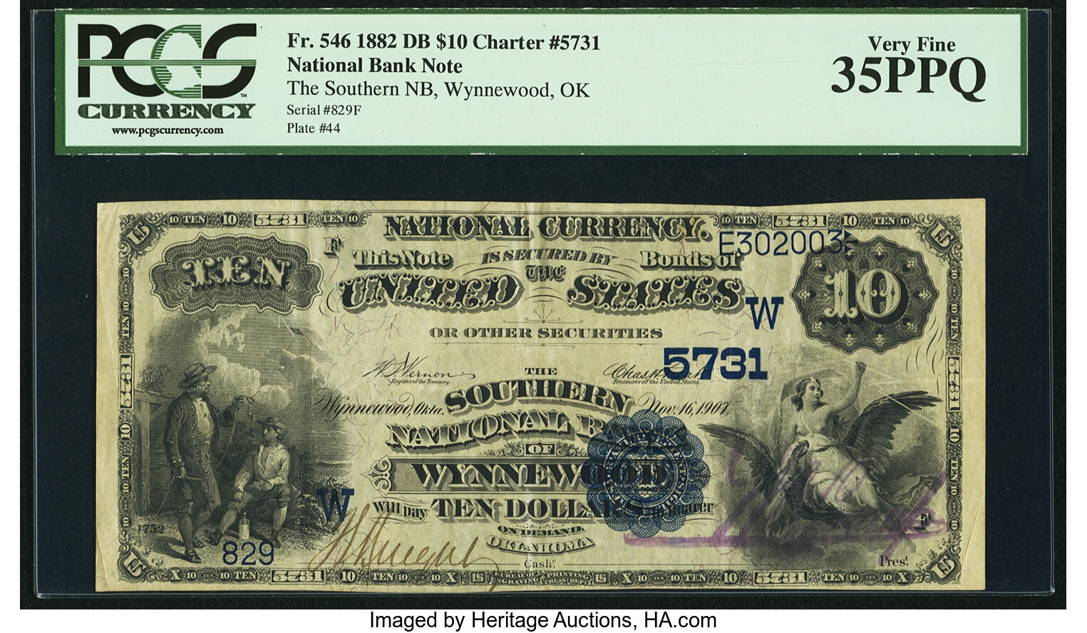 sample image for 1882 2nd Charter Period $10  Date Back 2nd Issue (Fr.# 546)