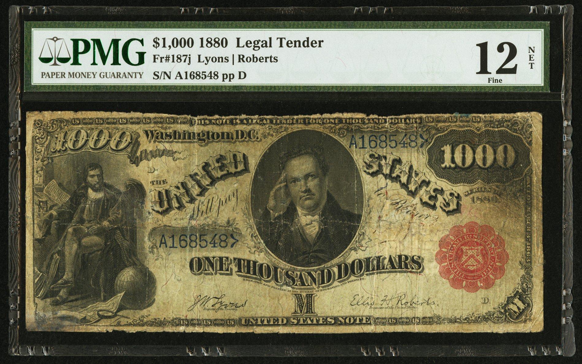 sample image for 1880 $1,000  (Fr.# 187j)