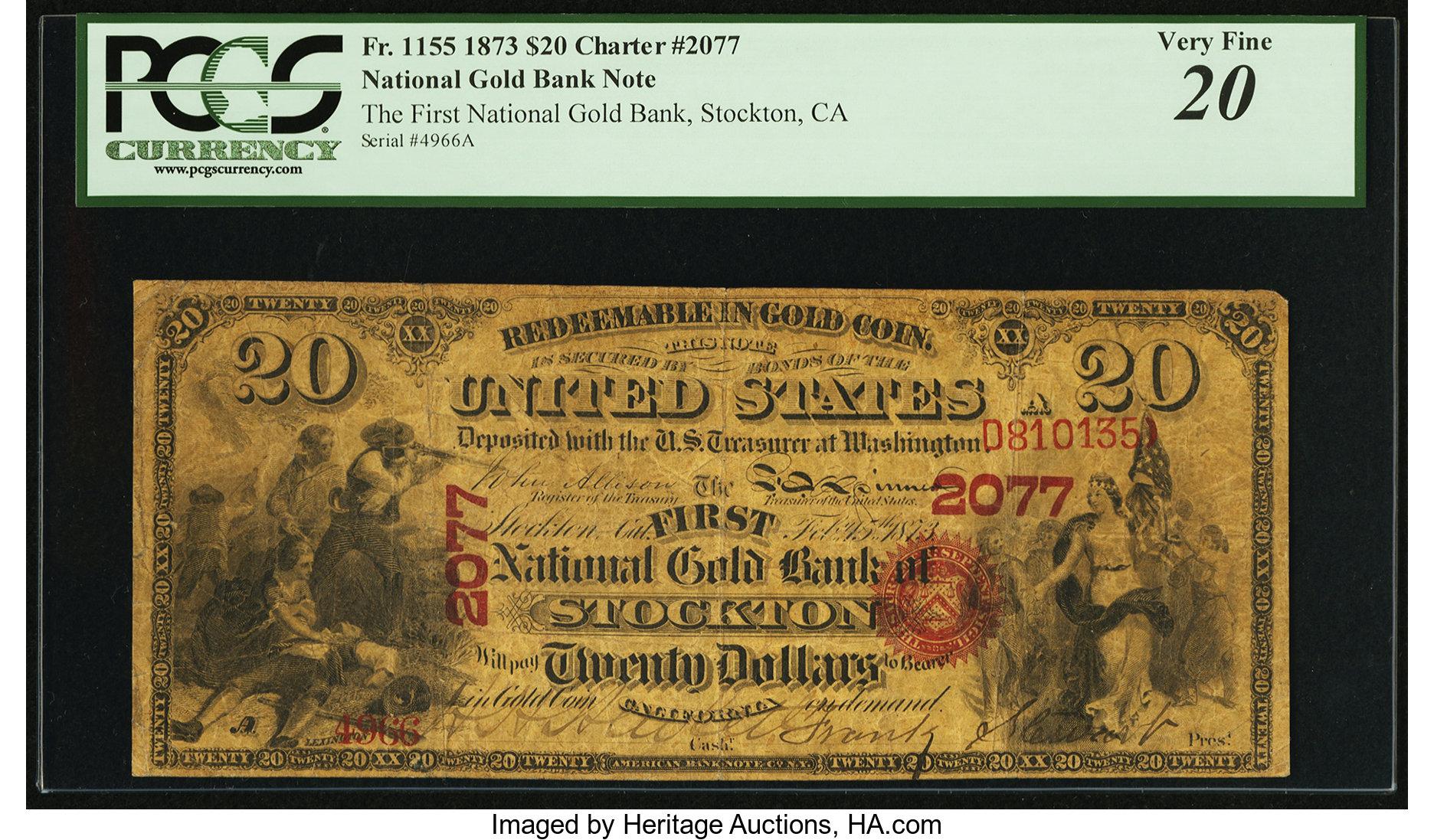 sample image for 1873 $20  Stockton (Fr.# 1155)