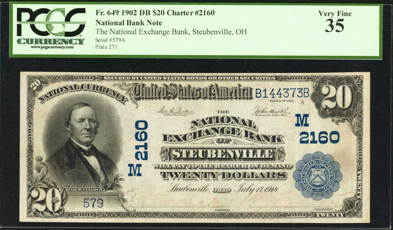 sample image for 1902 3rd Charter Period $20  Date Back 2nd Issue (Fr.# 649)