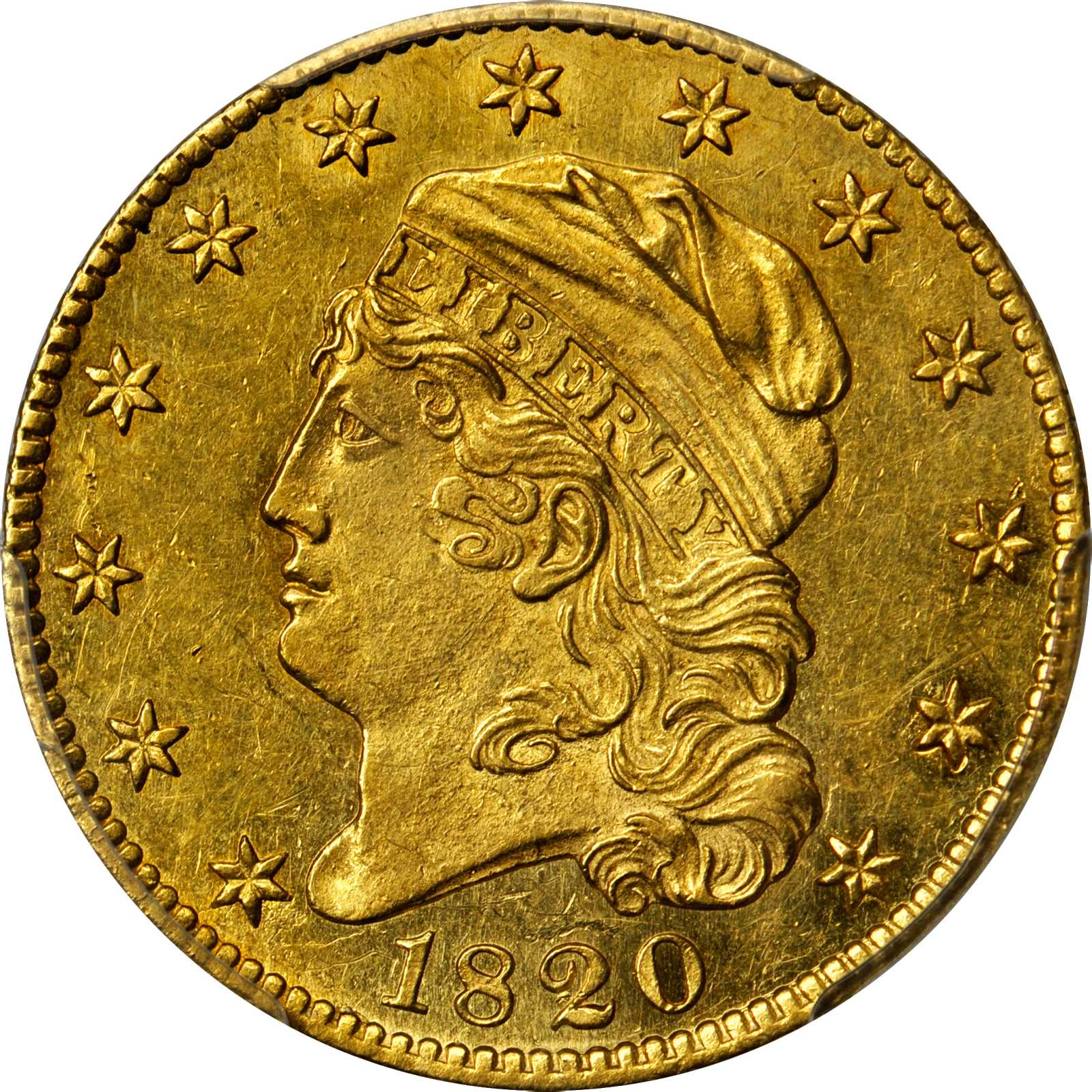 sample image for 1820 $5  MS Curl Base 2, Small Letters