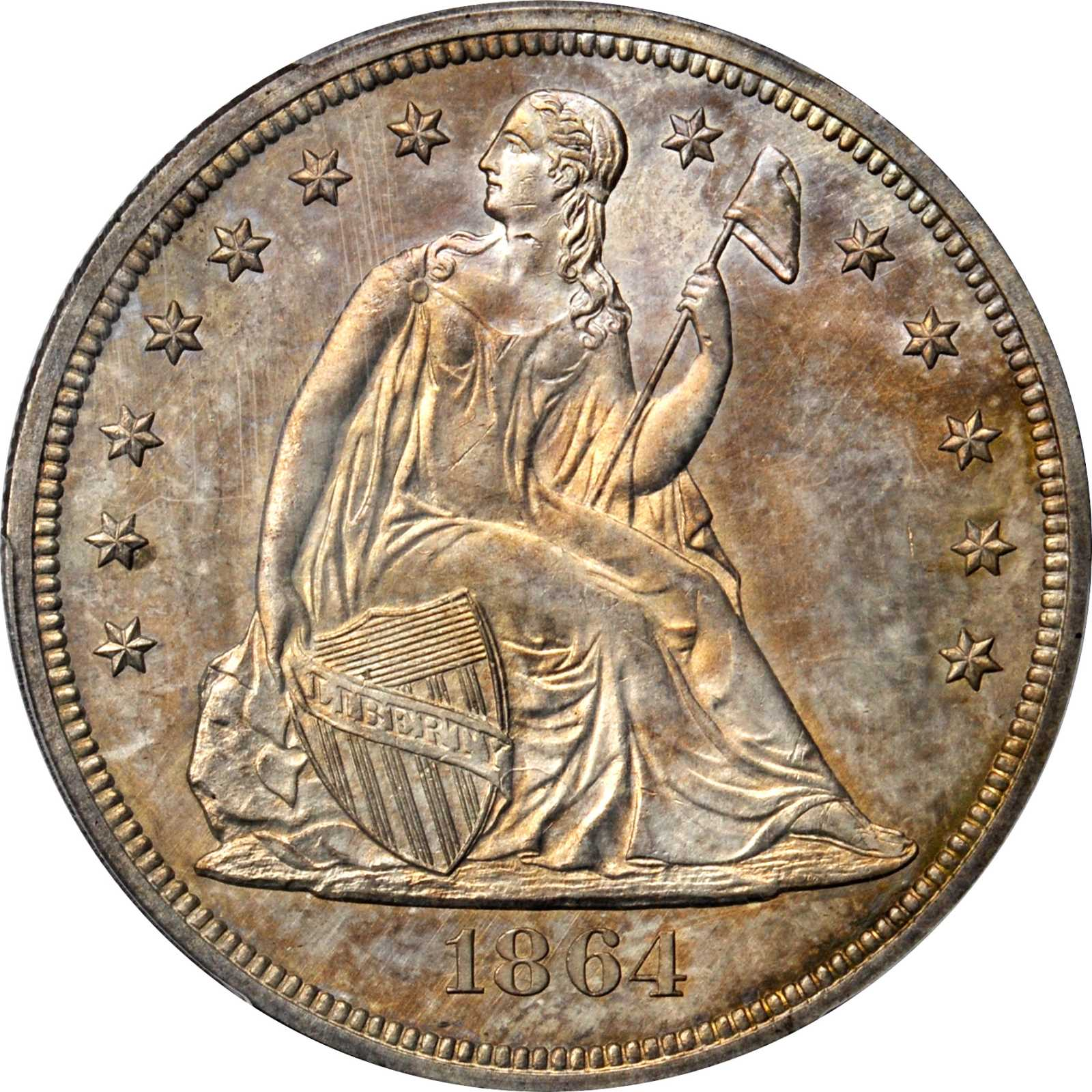 sample image for 1864 $1  MS