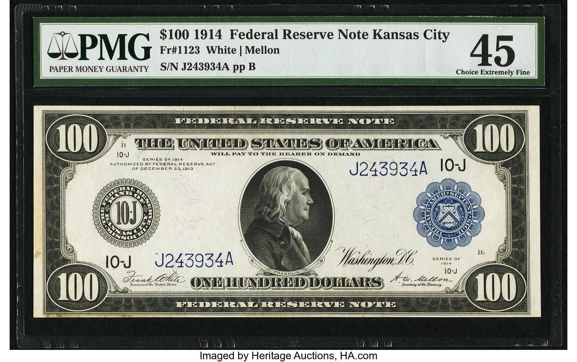 sample image for Fr.1123 $100 KC