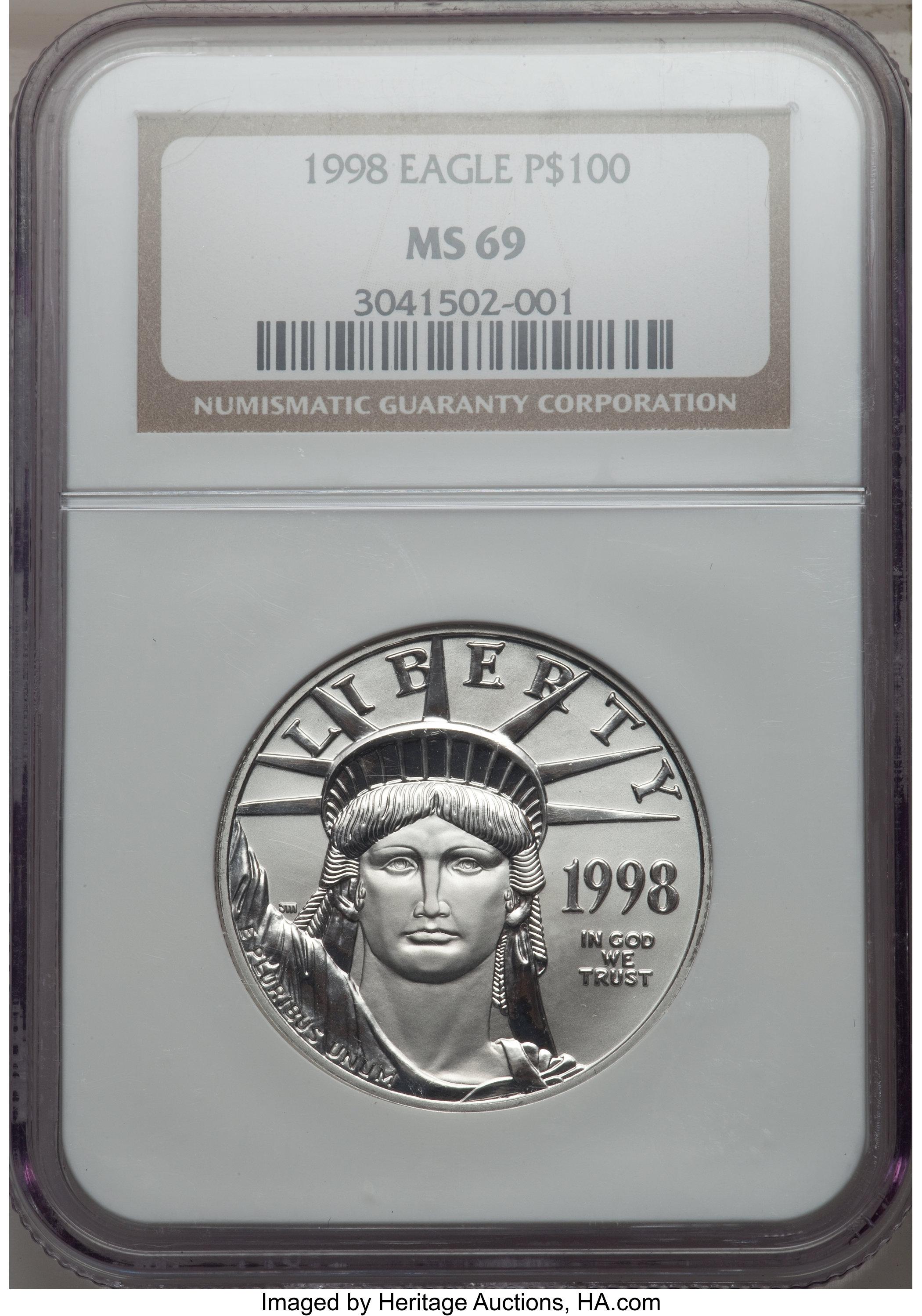 sample image for 1998 Platinum Eagle $100  MS