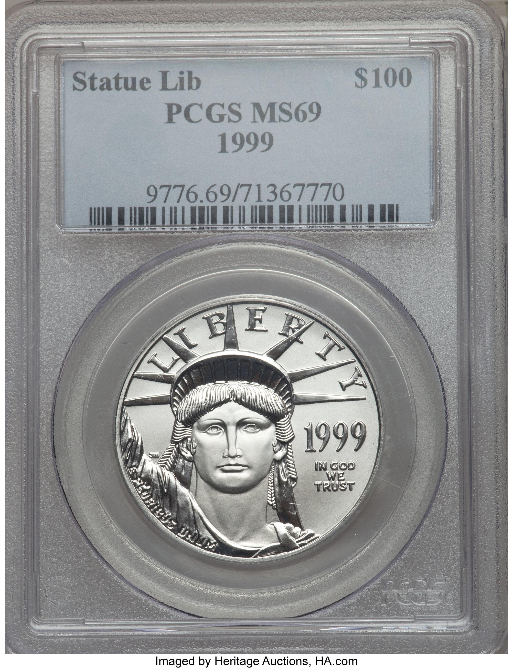sample image for 1999 Platinum Eagle $100  MS