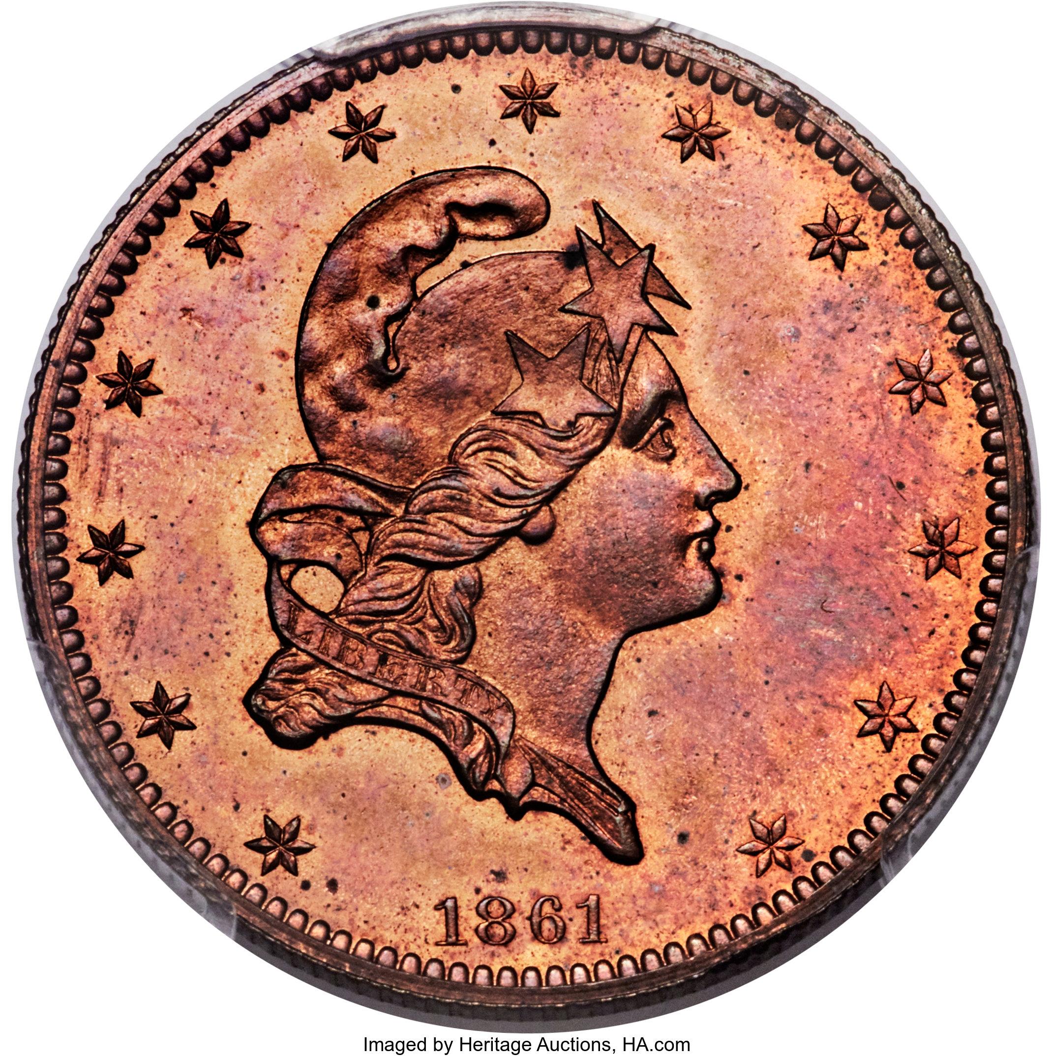sample image for 1861 J-283 P$5 PR RD