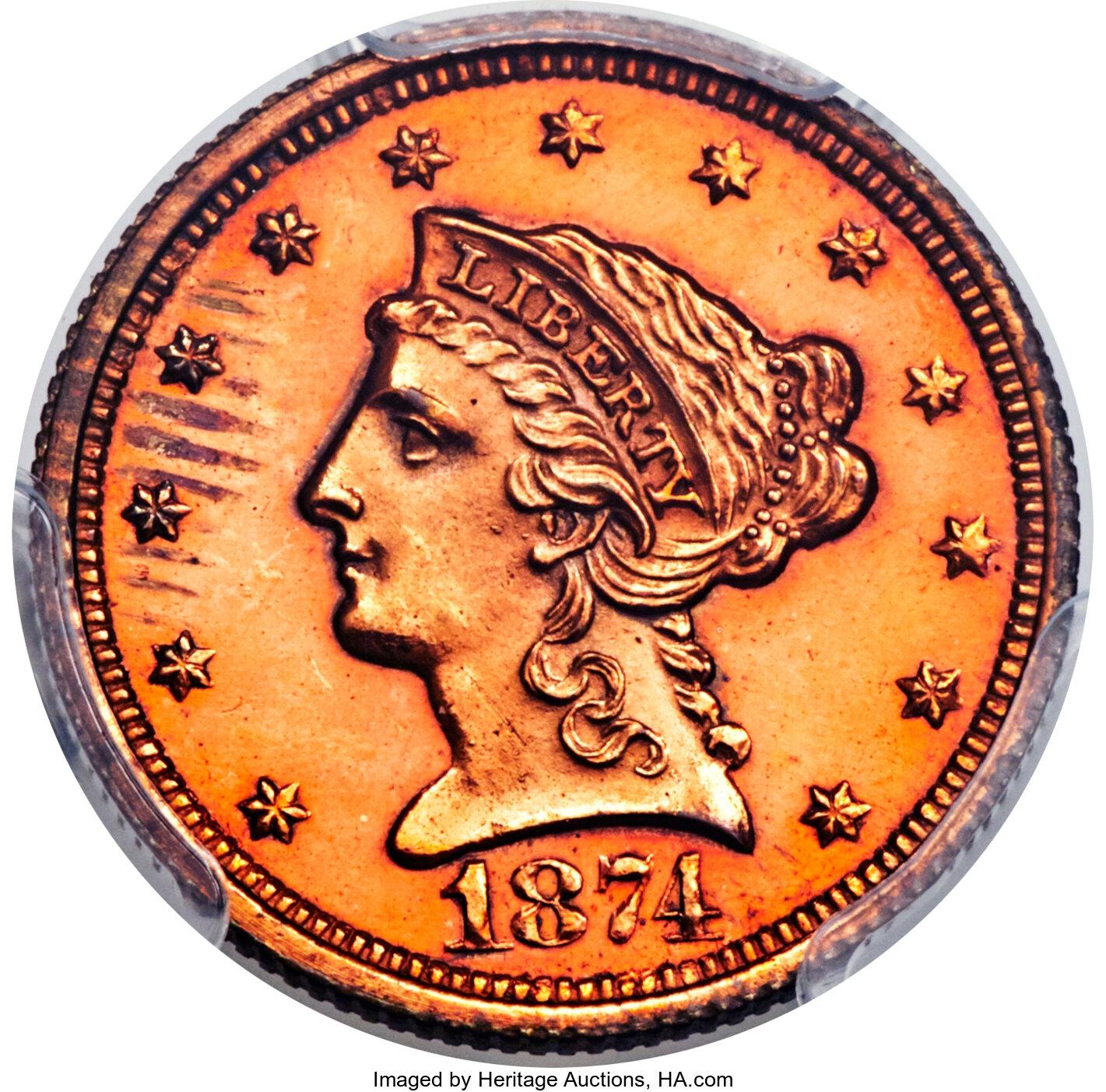 sample image for 1874 P$2.50 (J-1367) PR RB