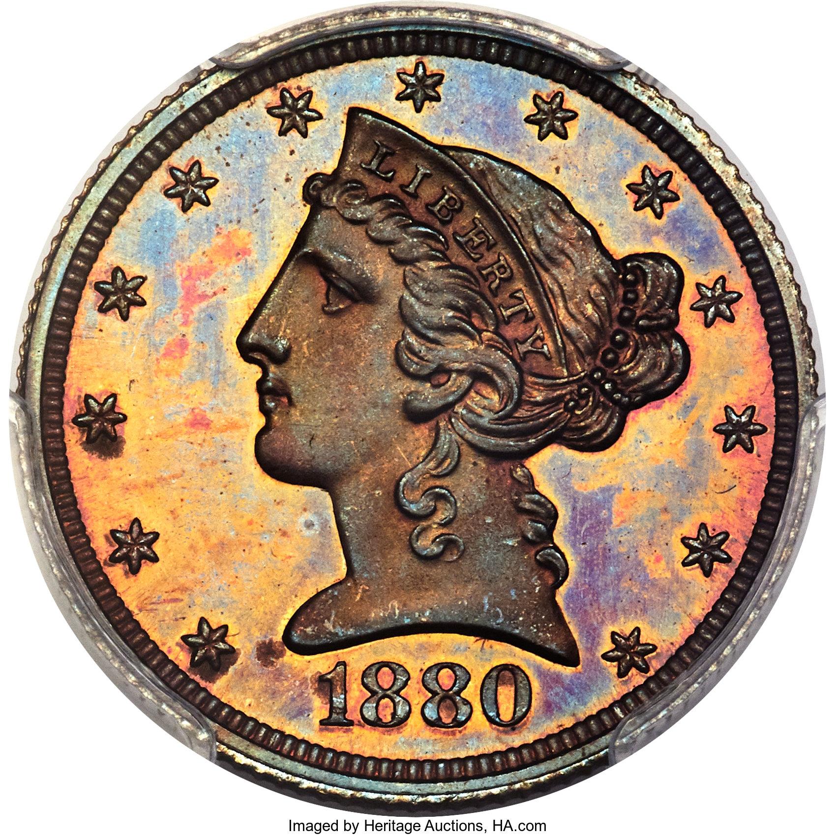 sample image for 1880 J-1663 P$5 PR RB