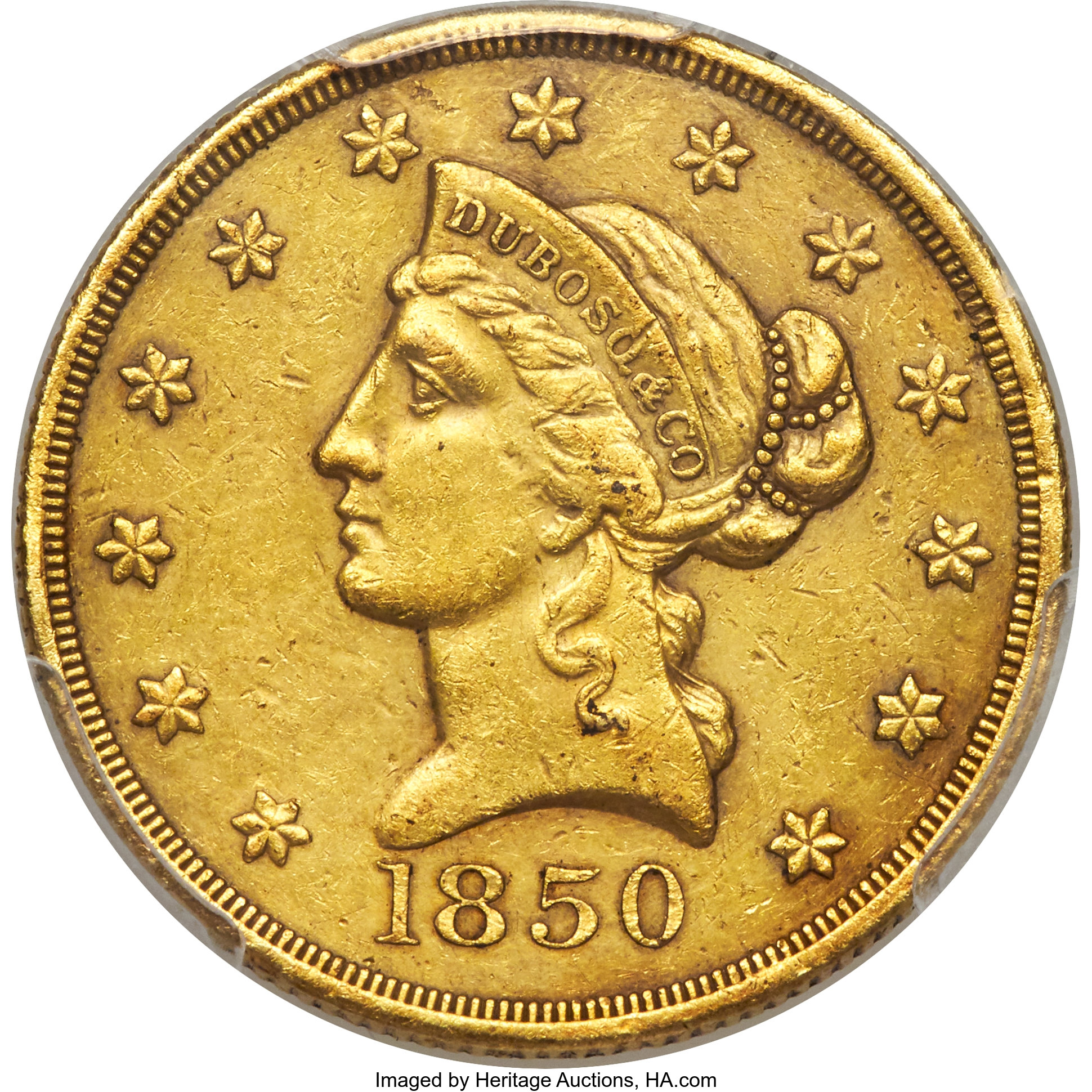 sample image for 1850 $10 Dubosq & Co.
