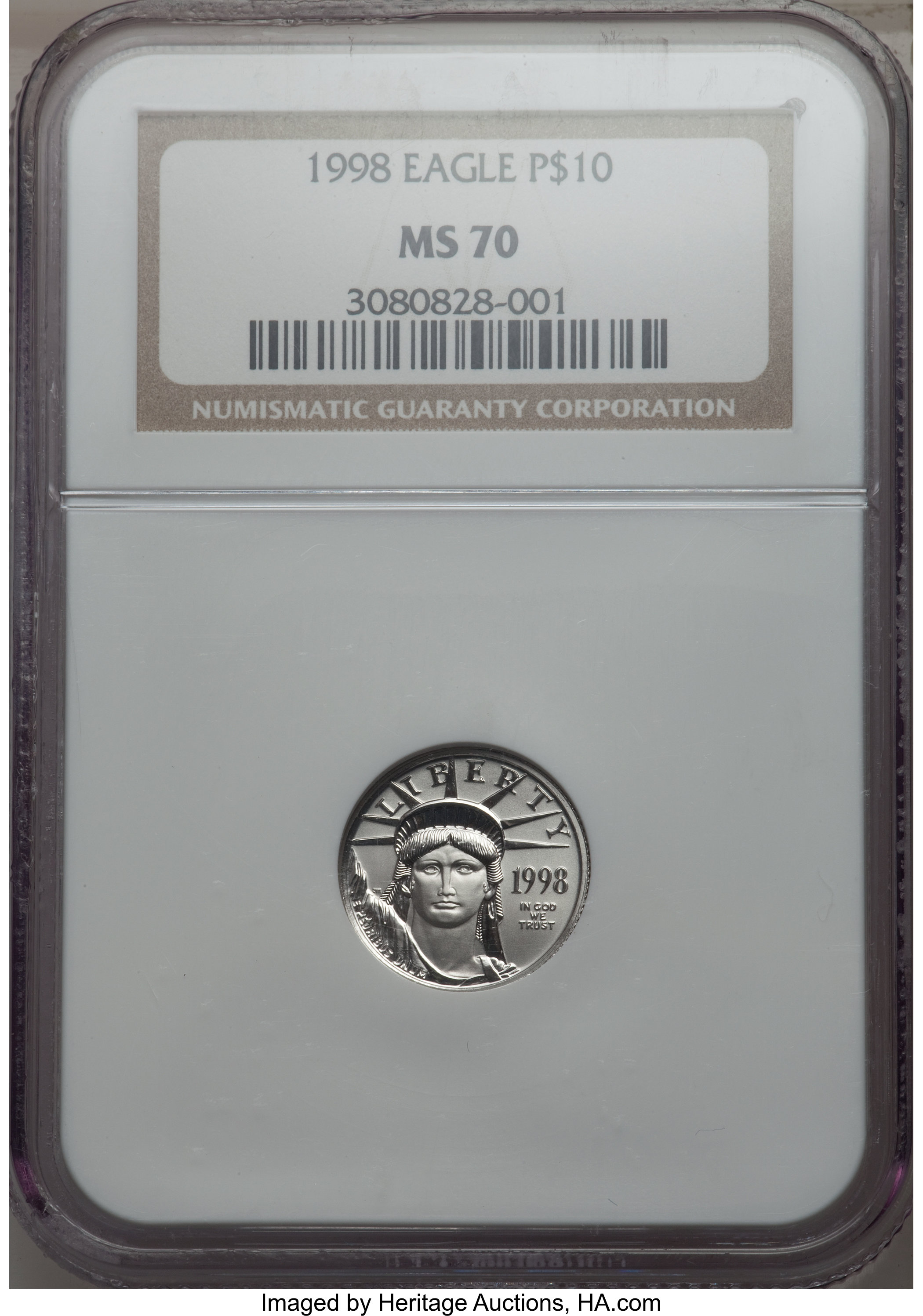 sample image for 1998 Platinum Eagle $10  MS