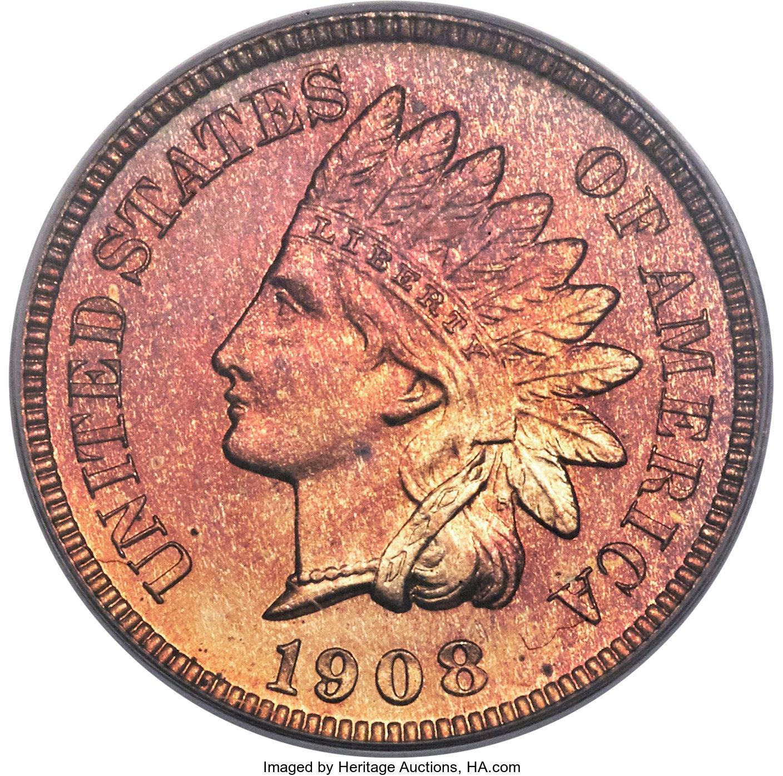 sample image for 1908 1c PR RB