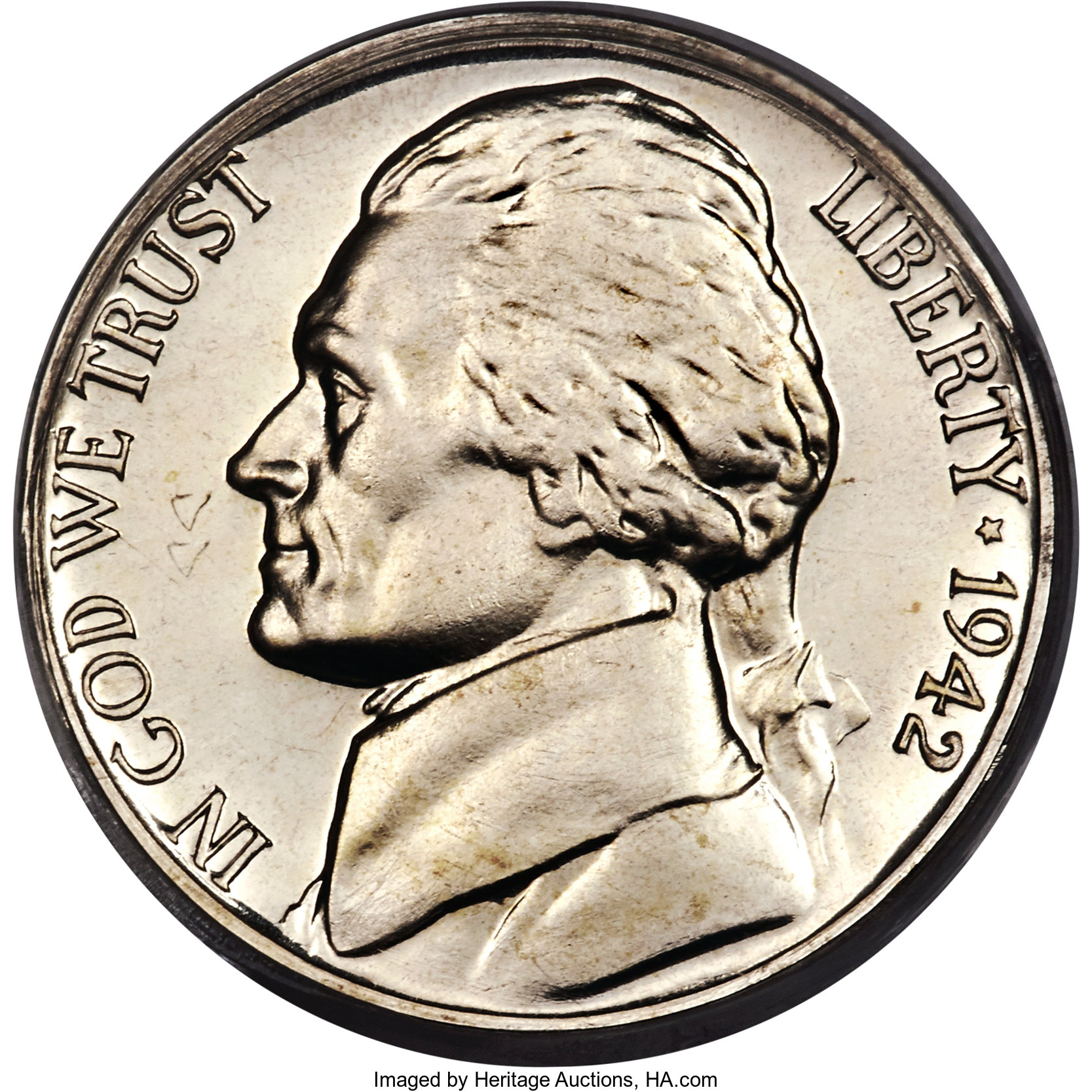 sample image for 1942-P 5c PR DCAM Ty. 2, Silver