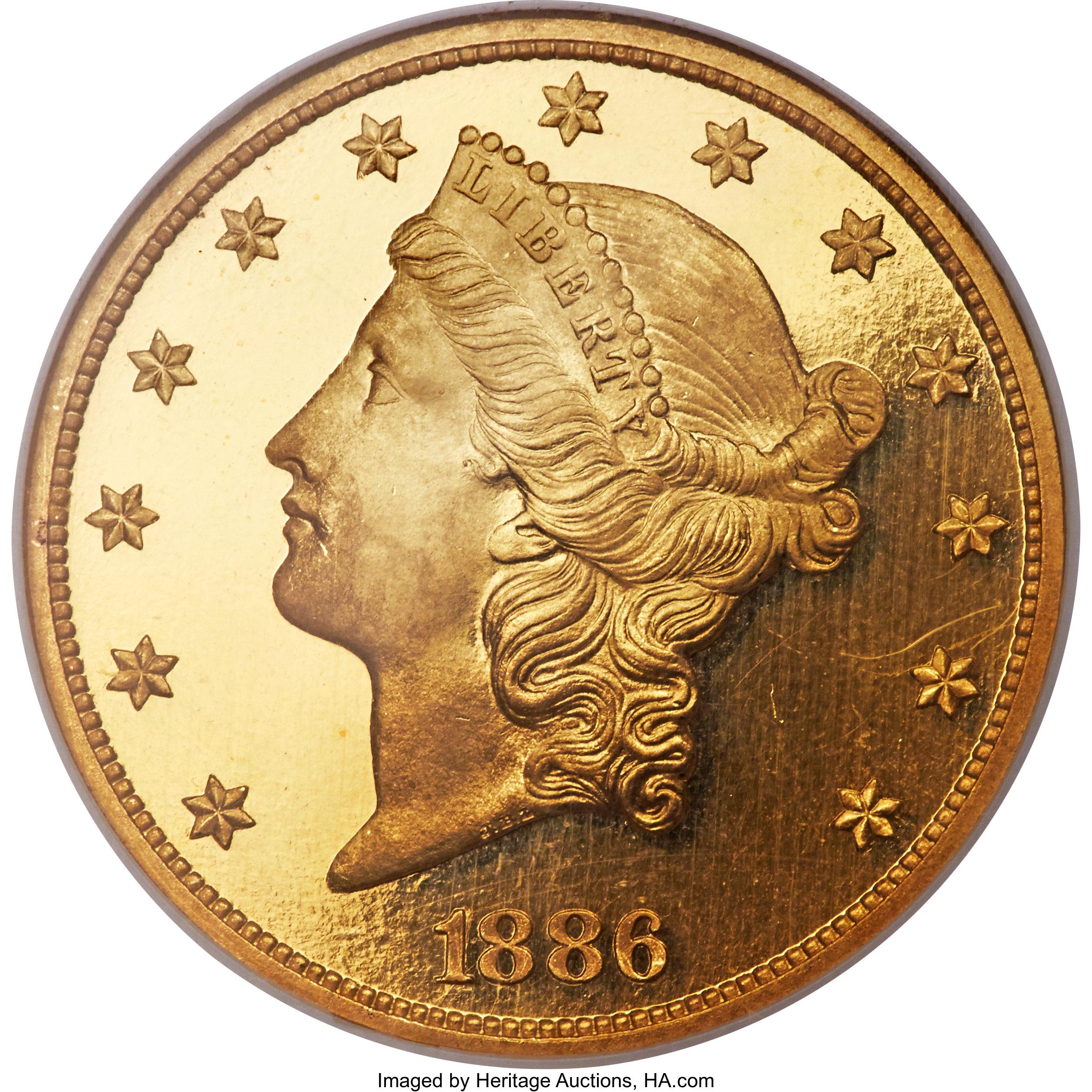 sample image for 1886 $20  PR DCAM