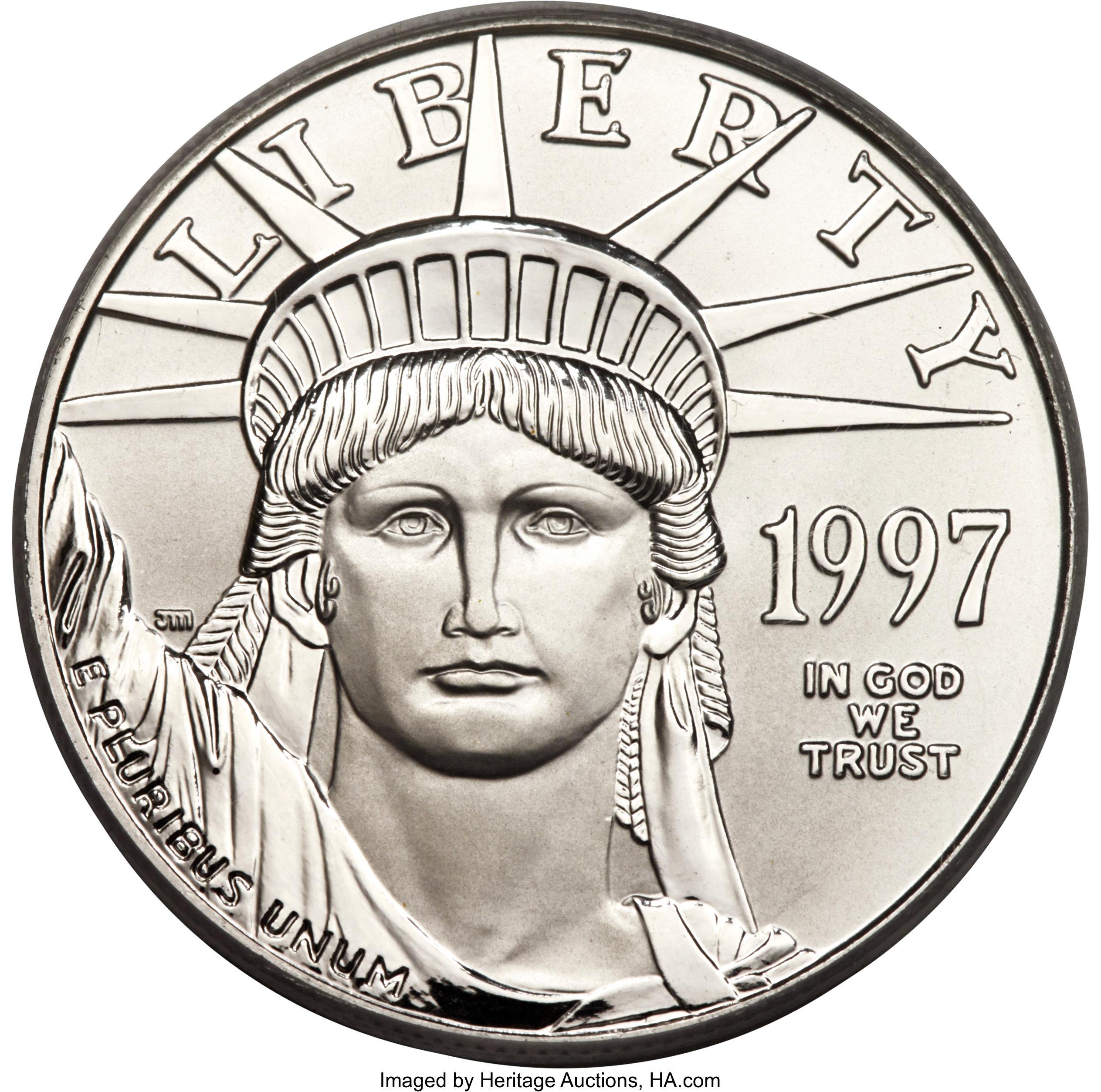 sample image for 1997 Platinum Eagle $100  MS