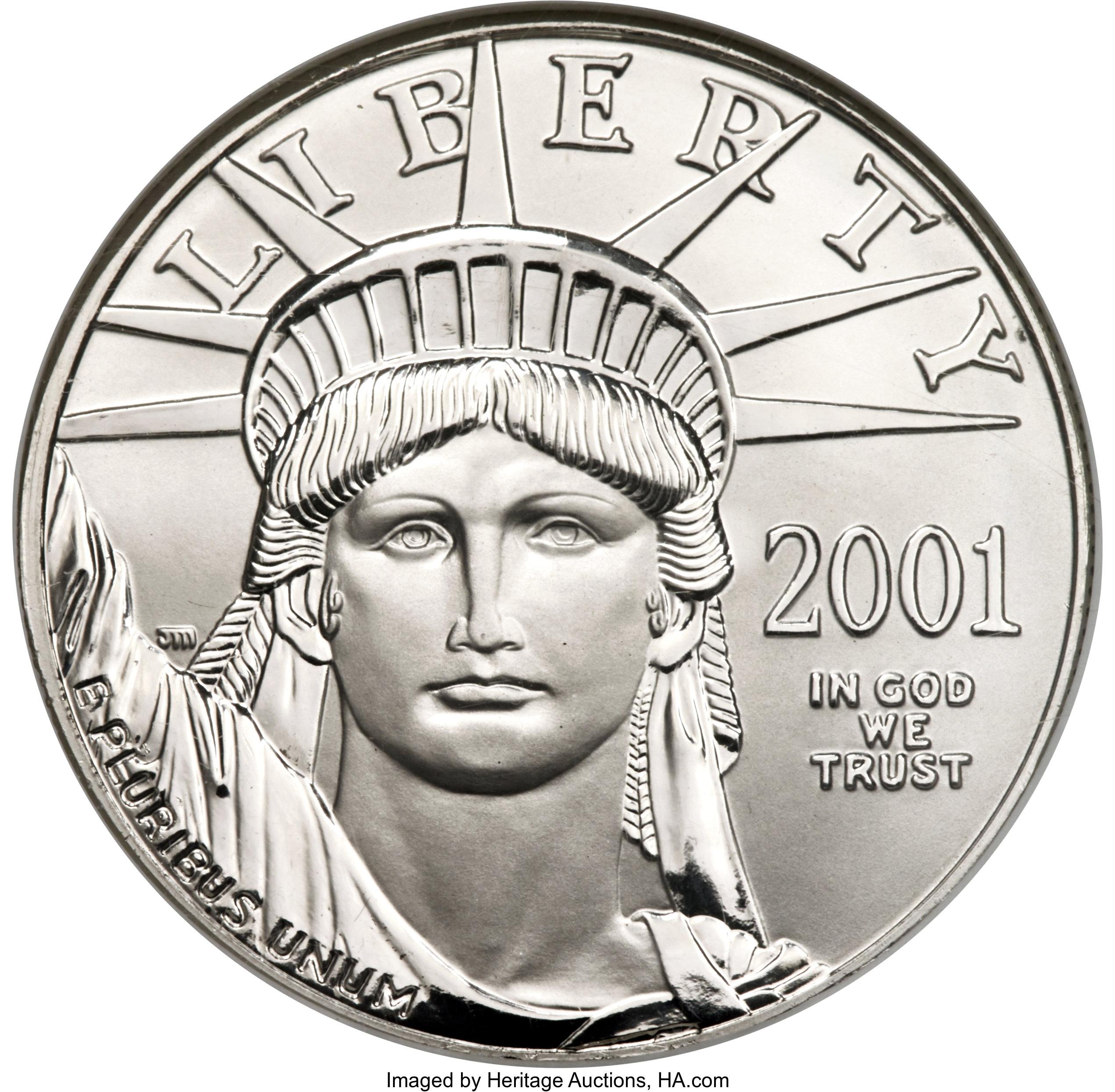 sample image for 2001 Platinum Eagle $100  MS