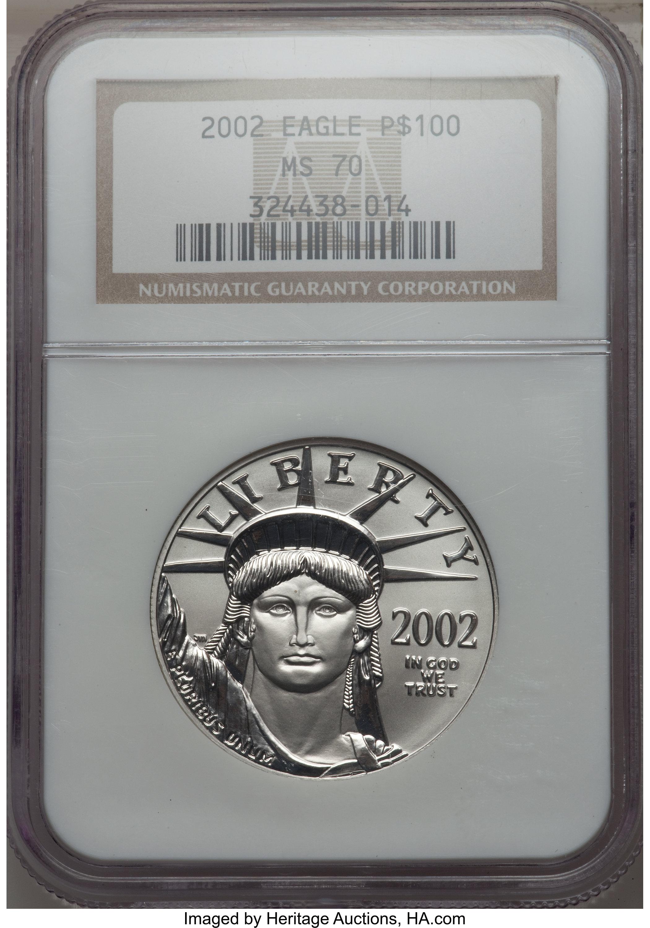 sample image for 2002 Platinum Eagle $100  MS