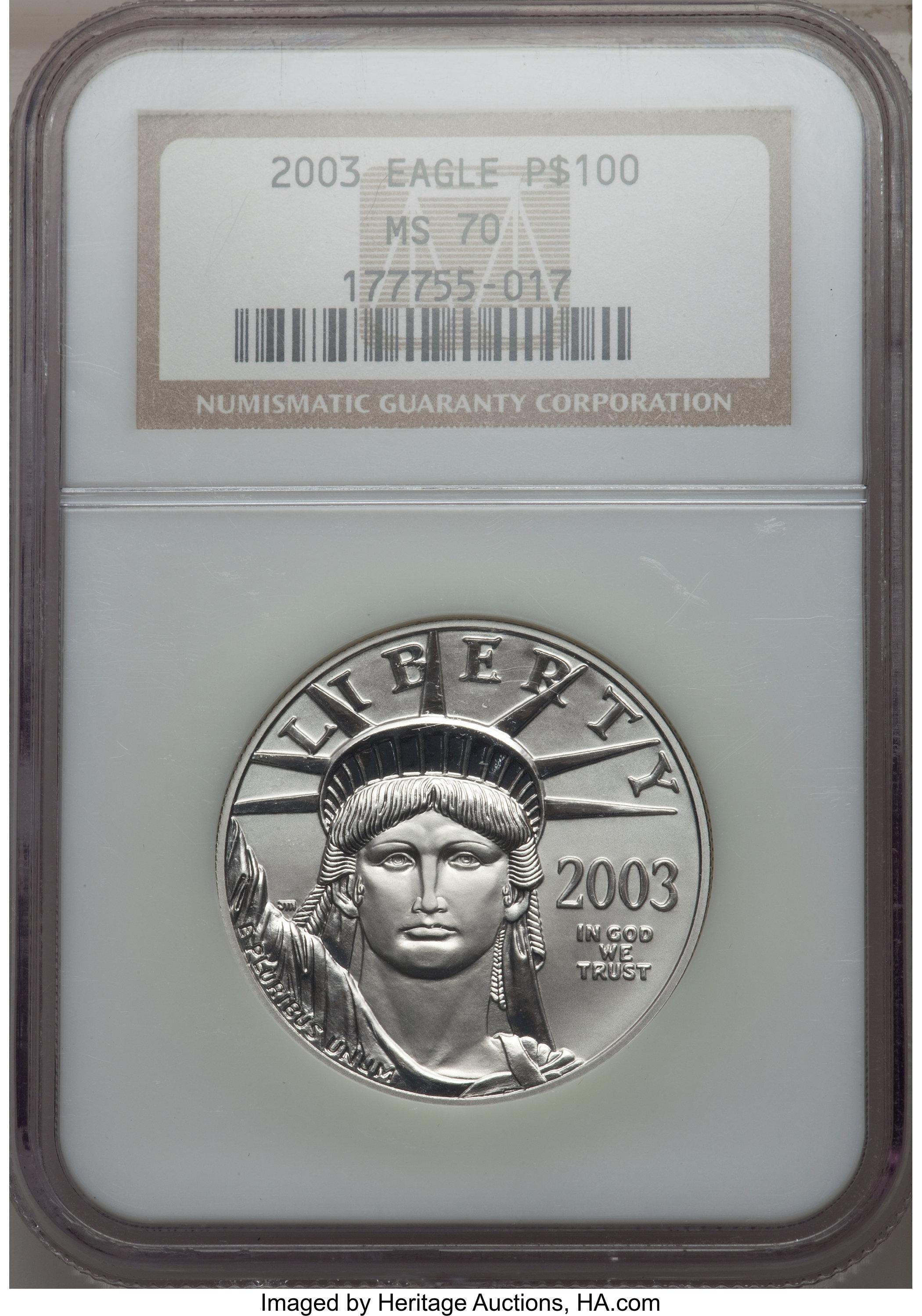 sample image for 2003 Platinum Eagle $100  MS