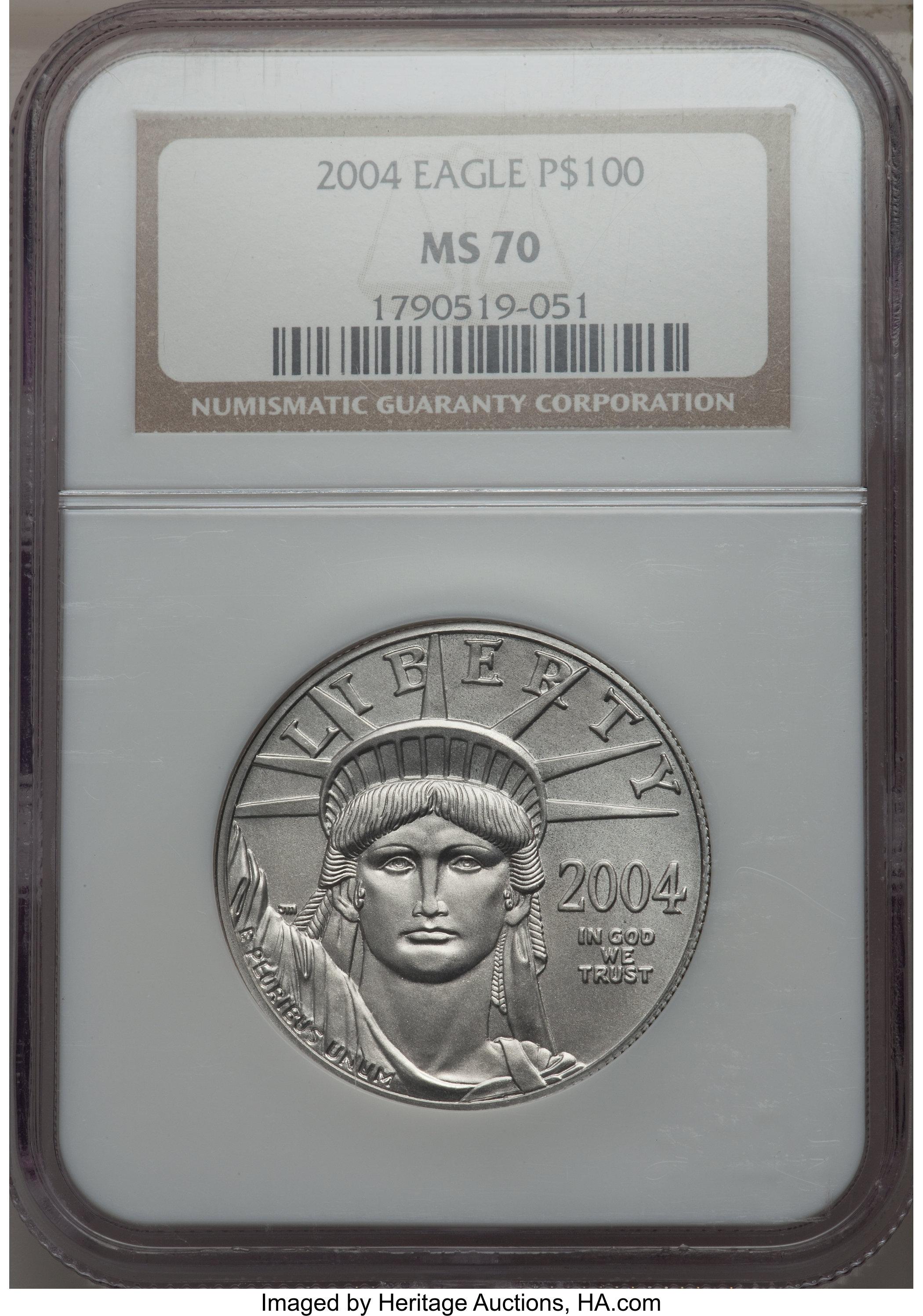 sample image for 2004 Platinum Eagle $100  MS
