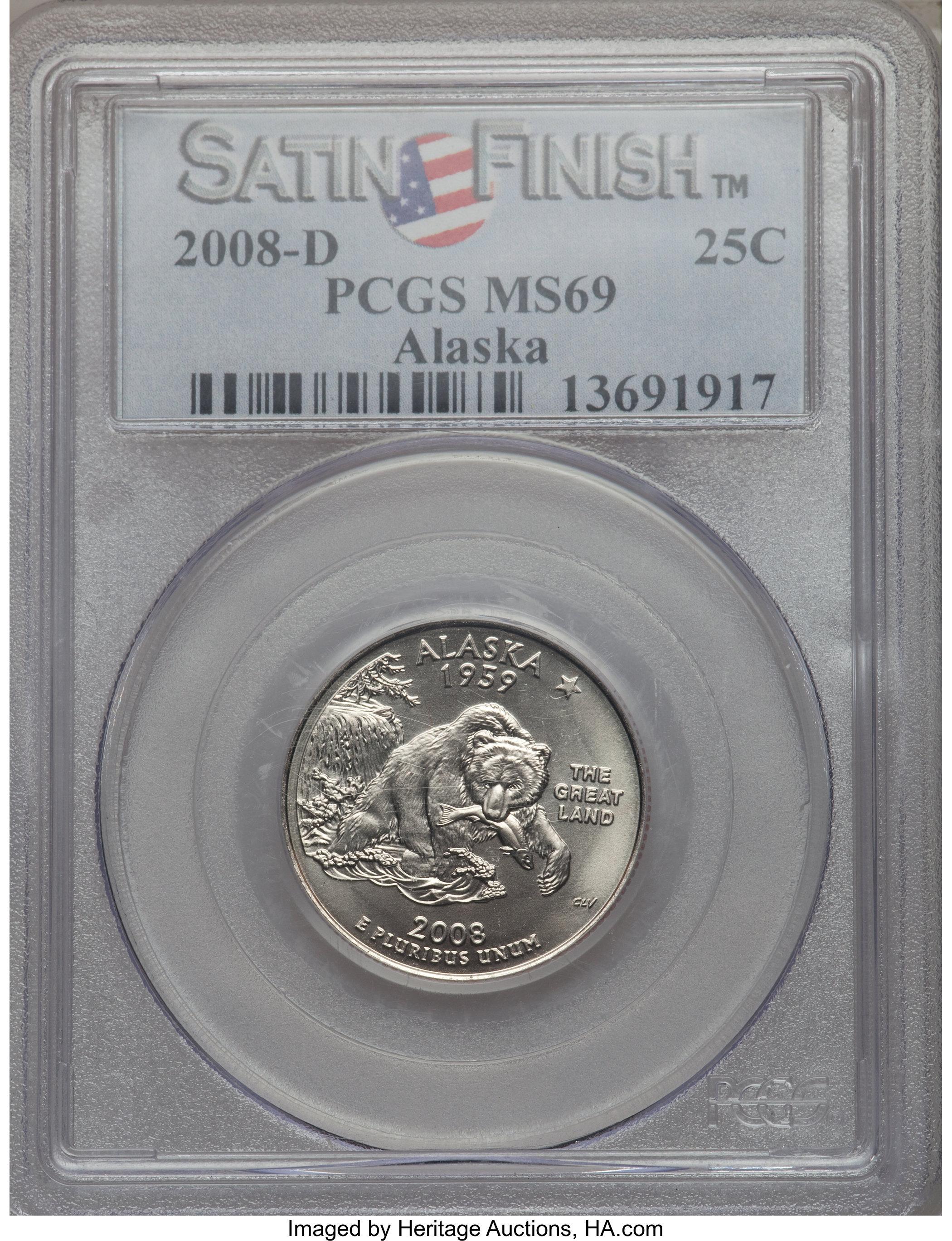 sample image for 2008-D Alaska 25c SP Satin Finish