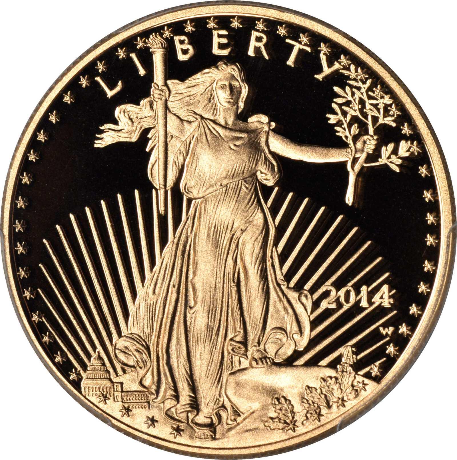 sample image for 2014-W Gold Eagle $50  PR DCAM