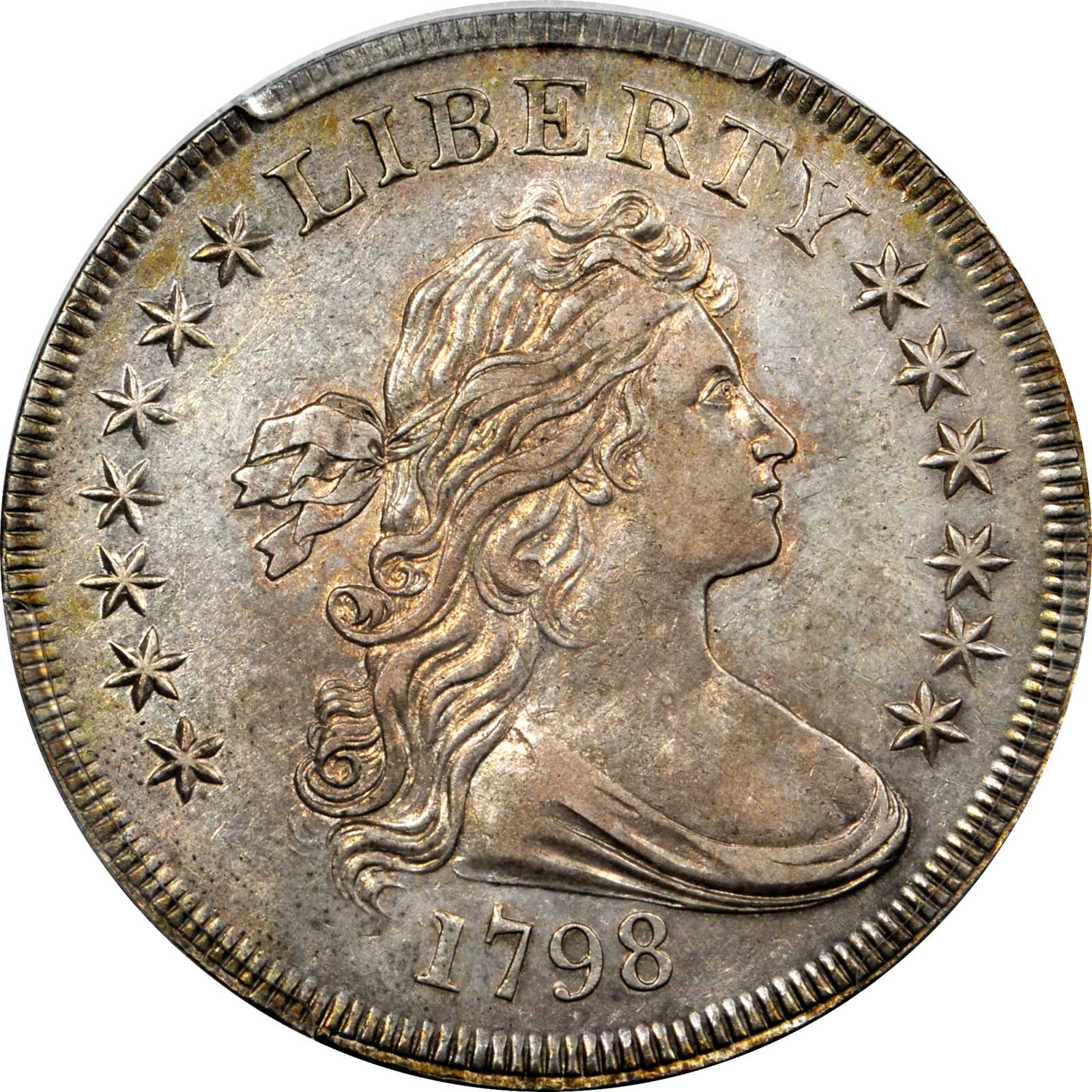 sample image for 1798 Small Eagle $1  MS 13 Stars Obverse