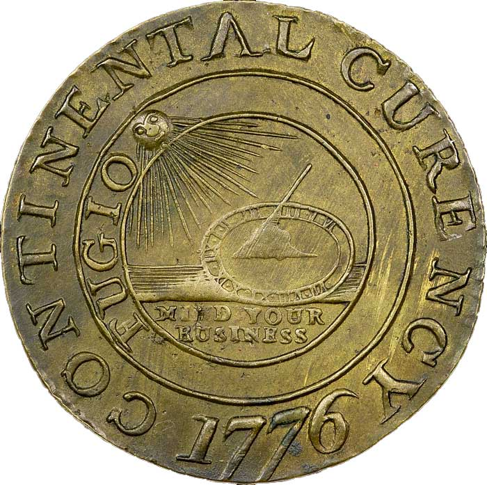 sample image for 1776 Cont Dollar, CURENCY, Brass