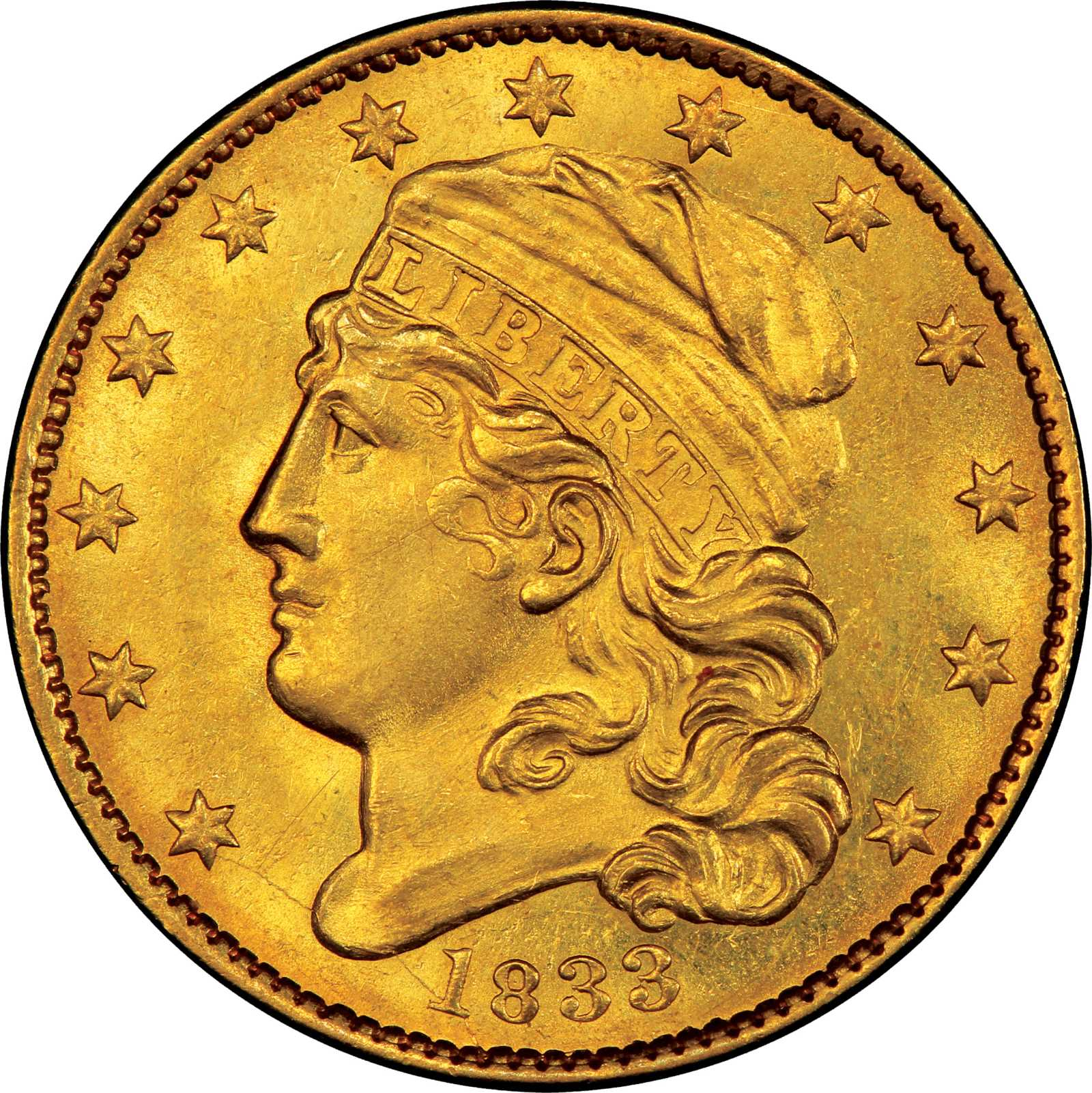 sample image for 1833 $5  MS Large Date