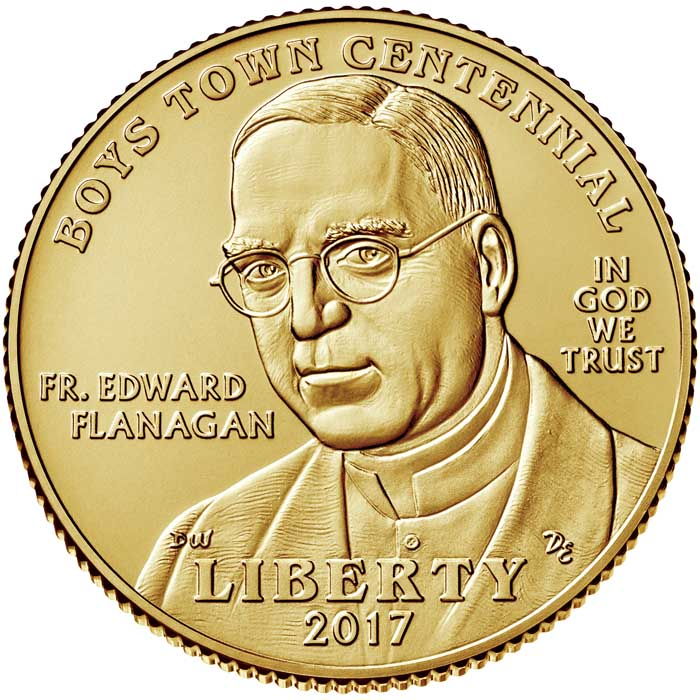 sample image for 2017-W Boys Town $5  MS