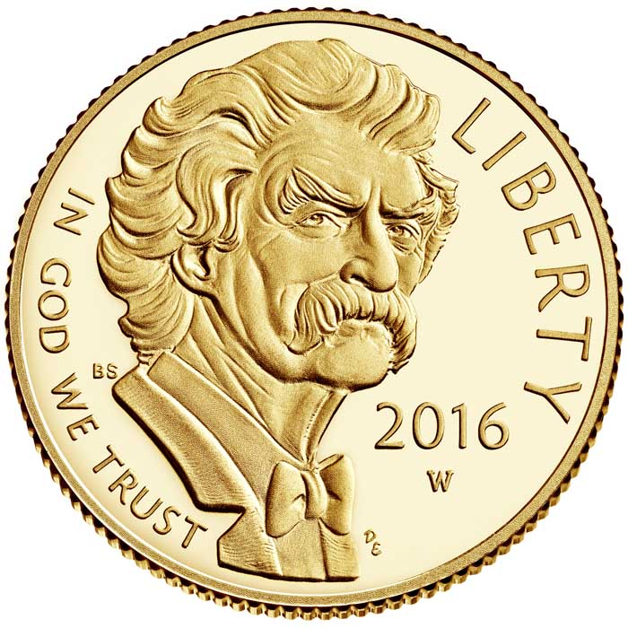 sample image for 2016-W Mark Twain $5  PR DCAM