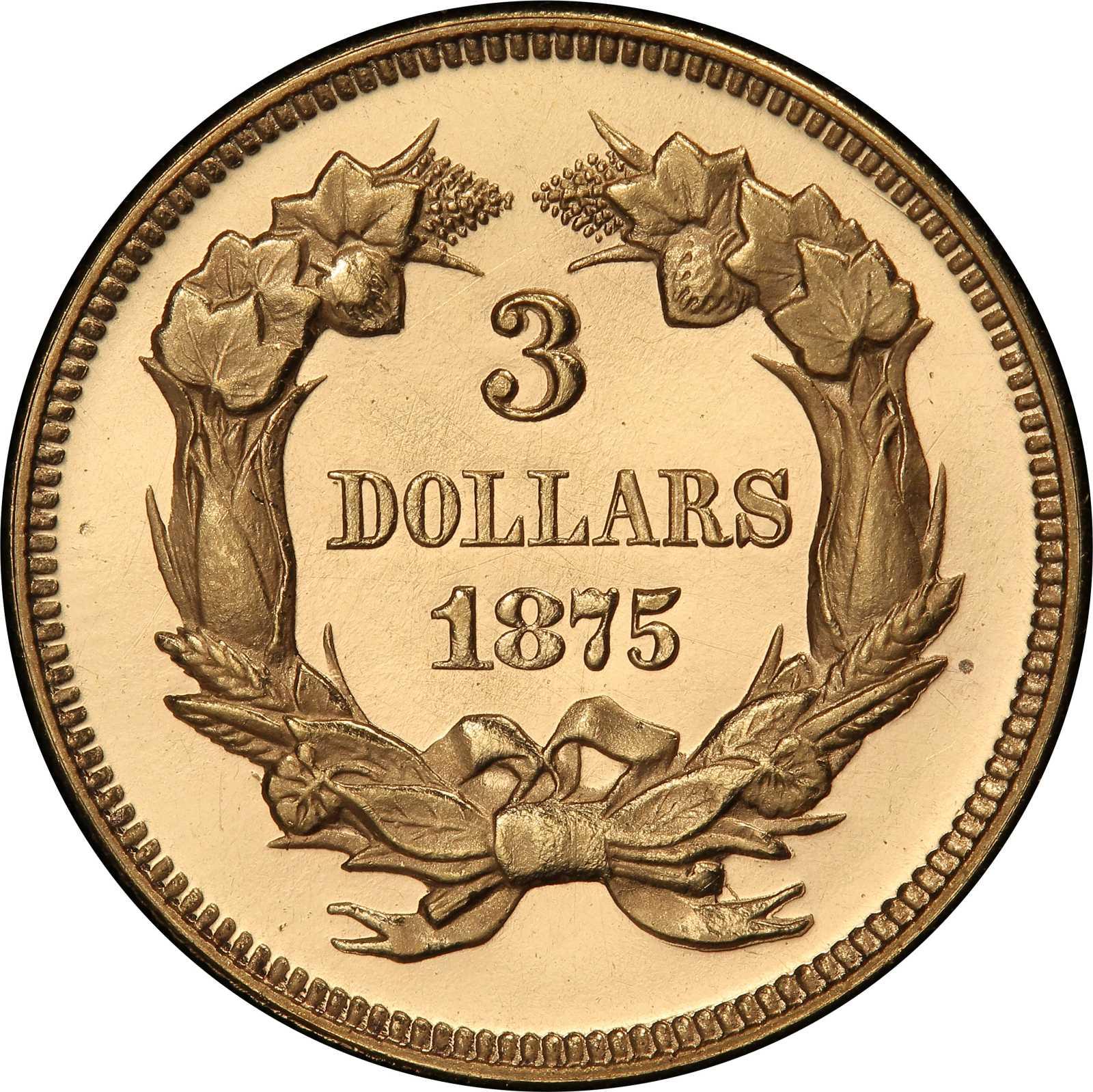 sample image for 1875 $3  PR DCAM