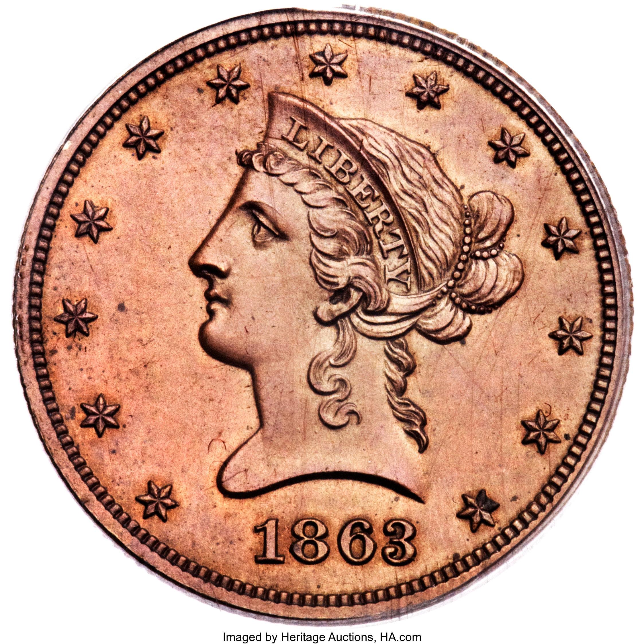 sample image for 1863 J-350 P$10 PR RB