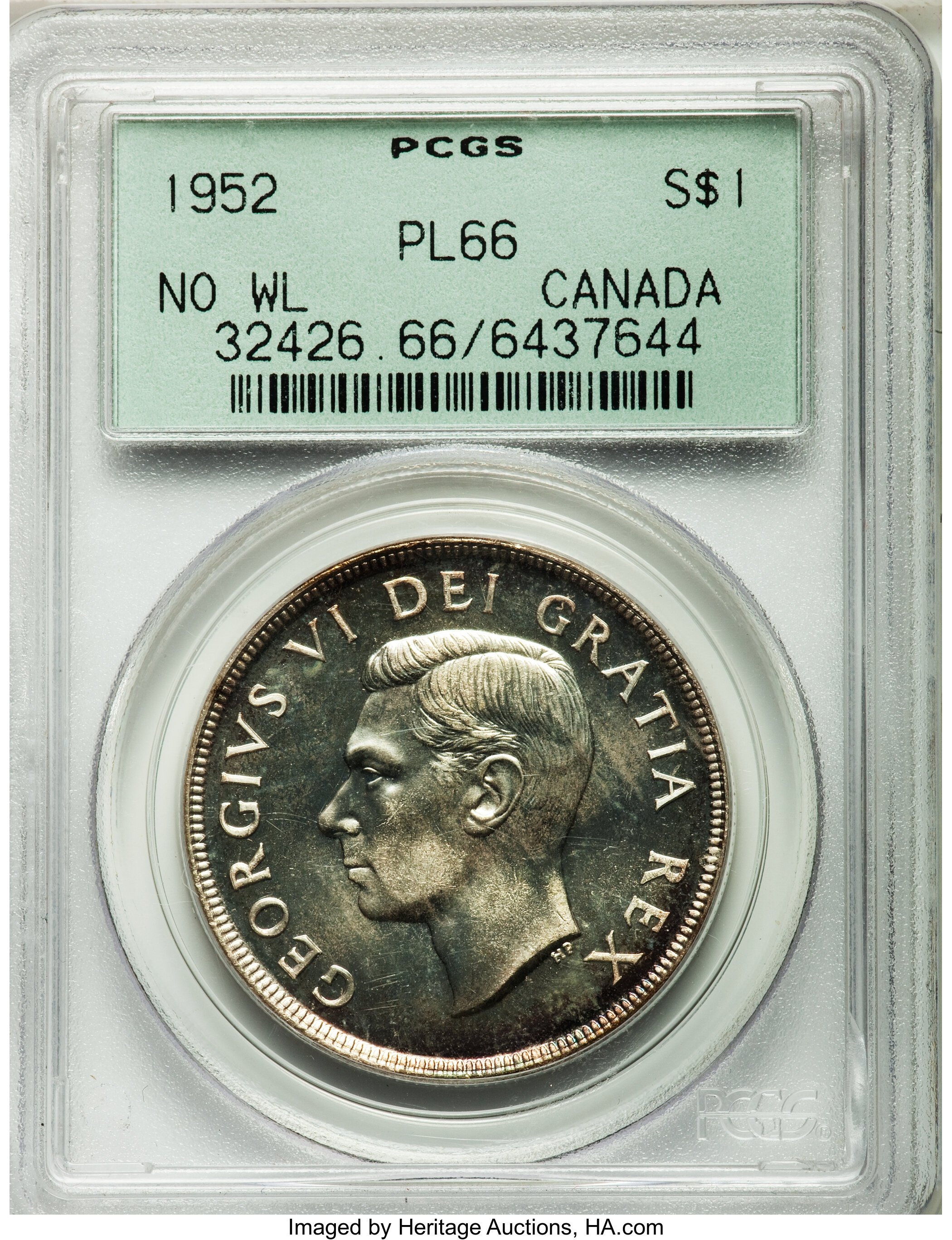sample image for 1952 Proof Like