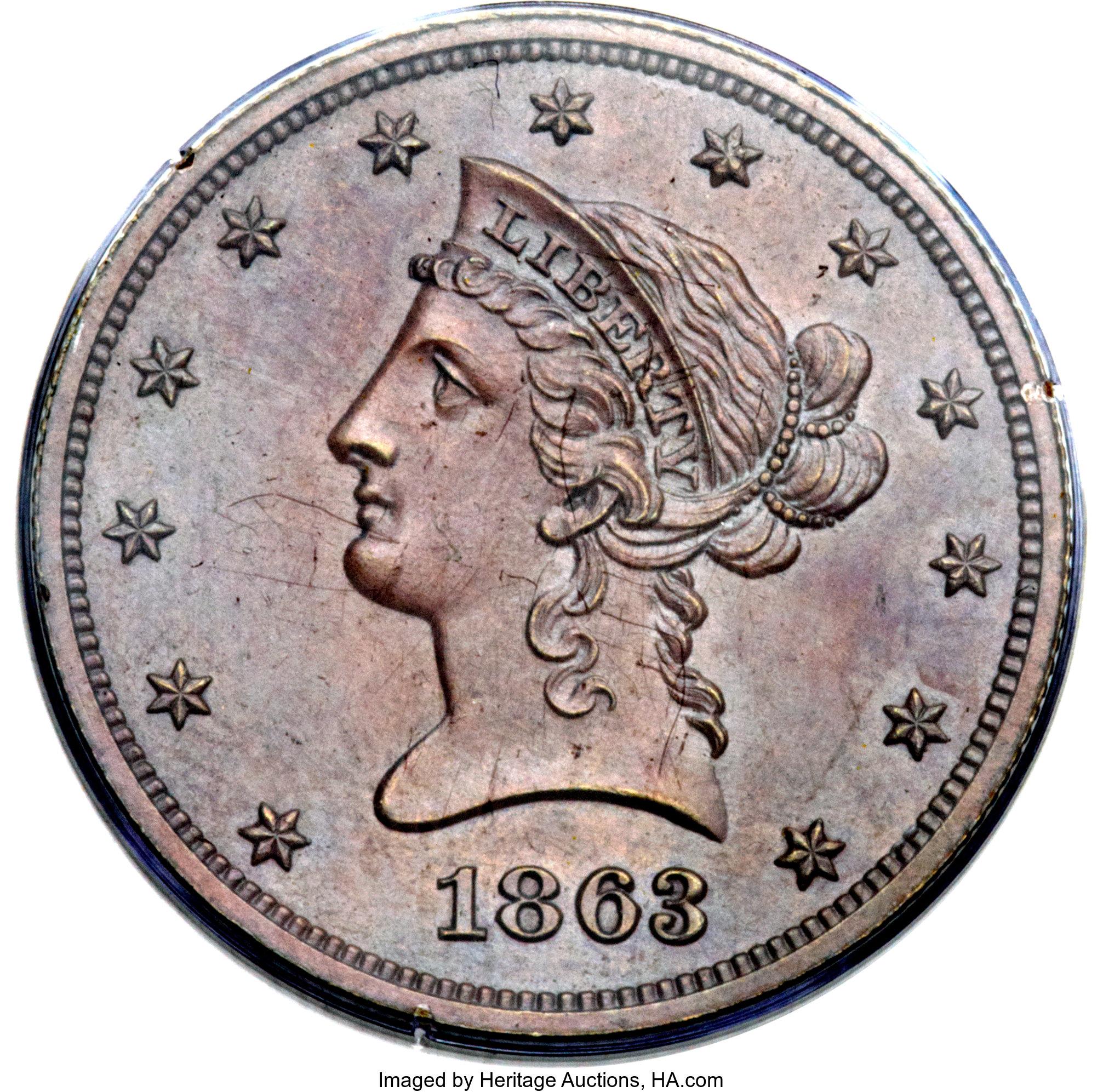 sample image for 1863 J-352 P$10 PR RB